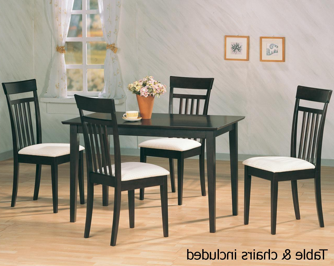 Brown Wood Dining Table And Chair Set – Steal A Sofa Furniture Regarding Best And Newest Dining Table With Sofa Chairs (View 16 of 20)