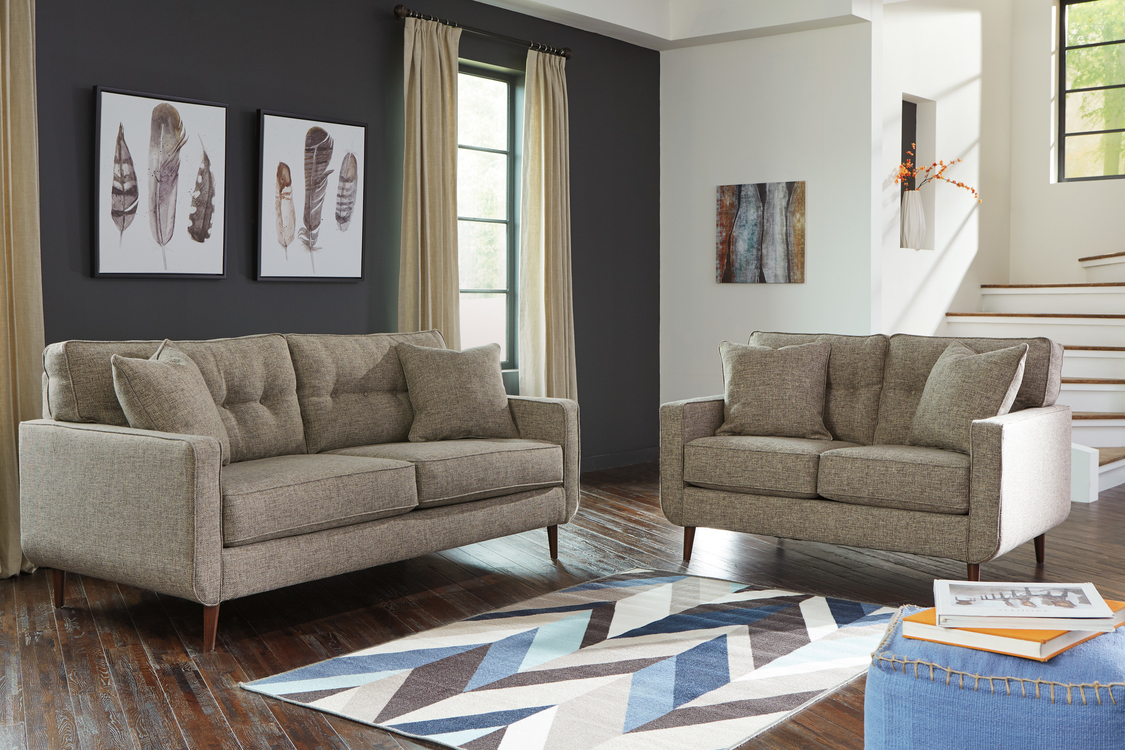 Bungalow Rose Grandin Configurable Living Room Set (View 6 of 20)