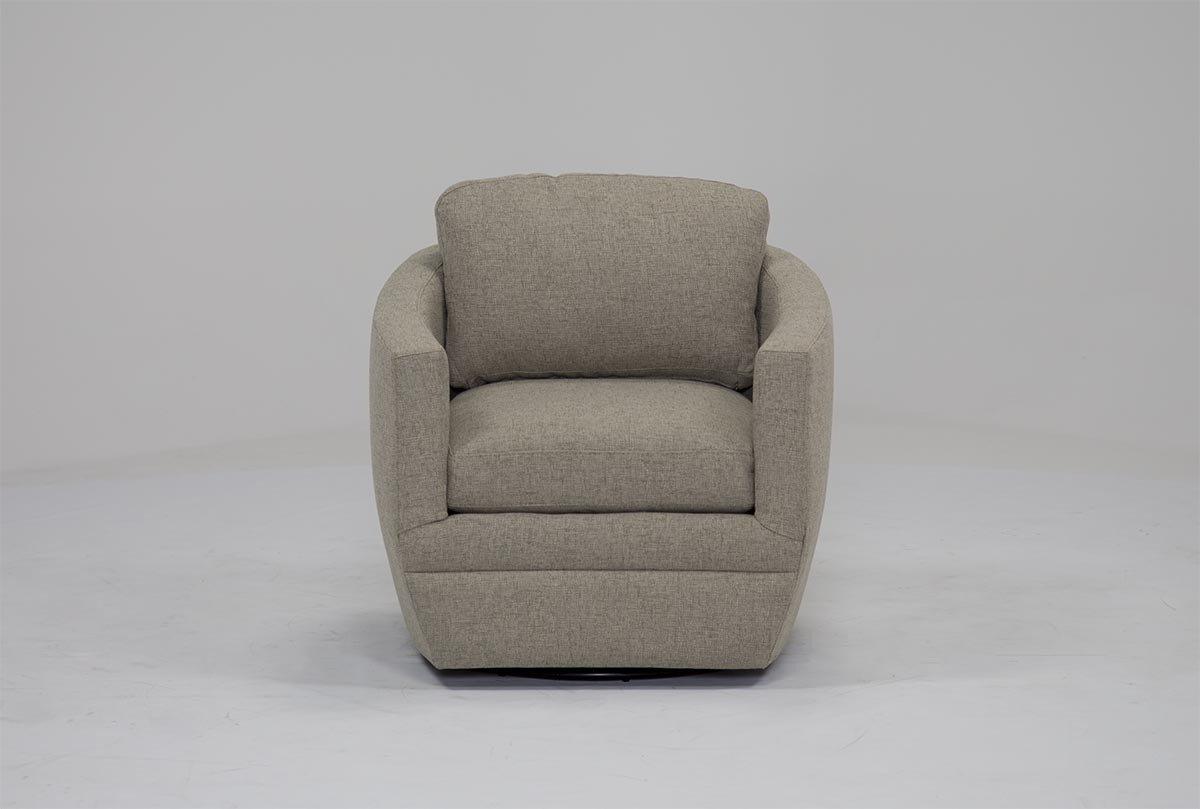 Chadwick Gunmetal Swivel Chair (View 7 of 20)