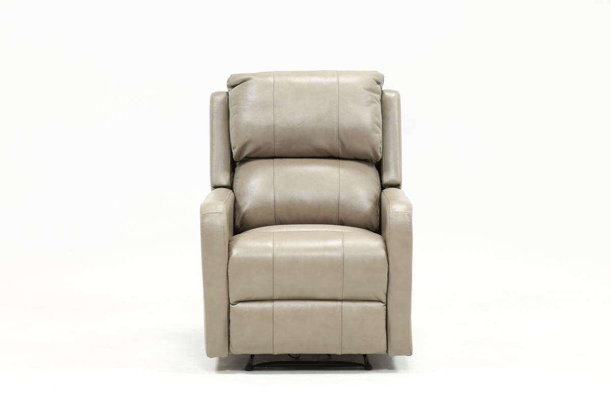 Chadwick Gunmetal Swivel Chairs For Most Recent Stanford Leather Mushroom Power Wallaway Recliner (View 3 of 20)