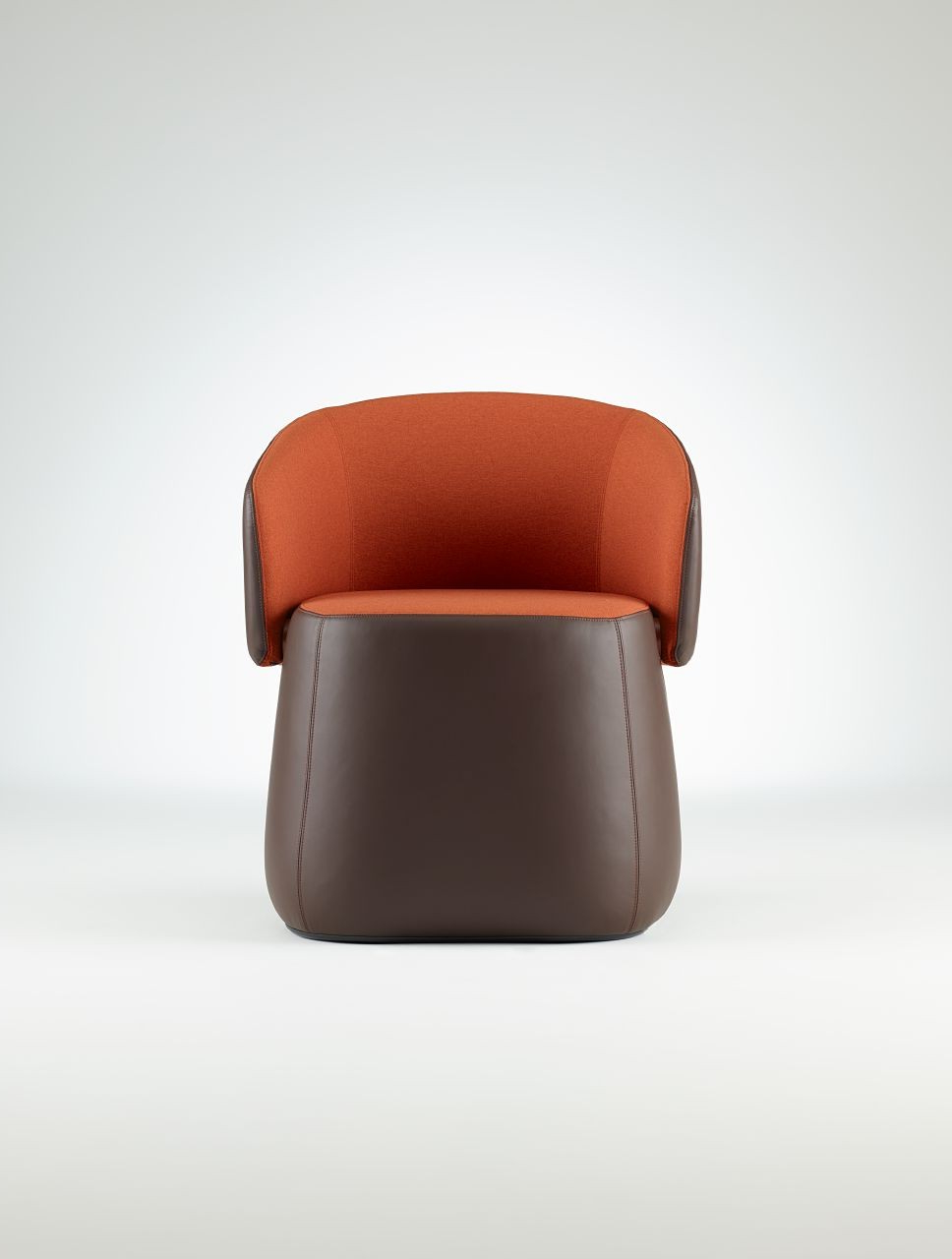 Chadwick Tomato Swivel Accent Chairs Intended For Famous Haworth Openest Collection Chick Pouf With Back – Modern Planet (View 3 of 20)