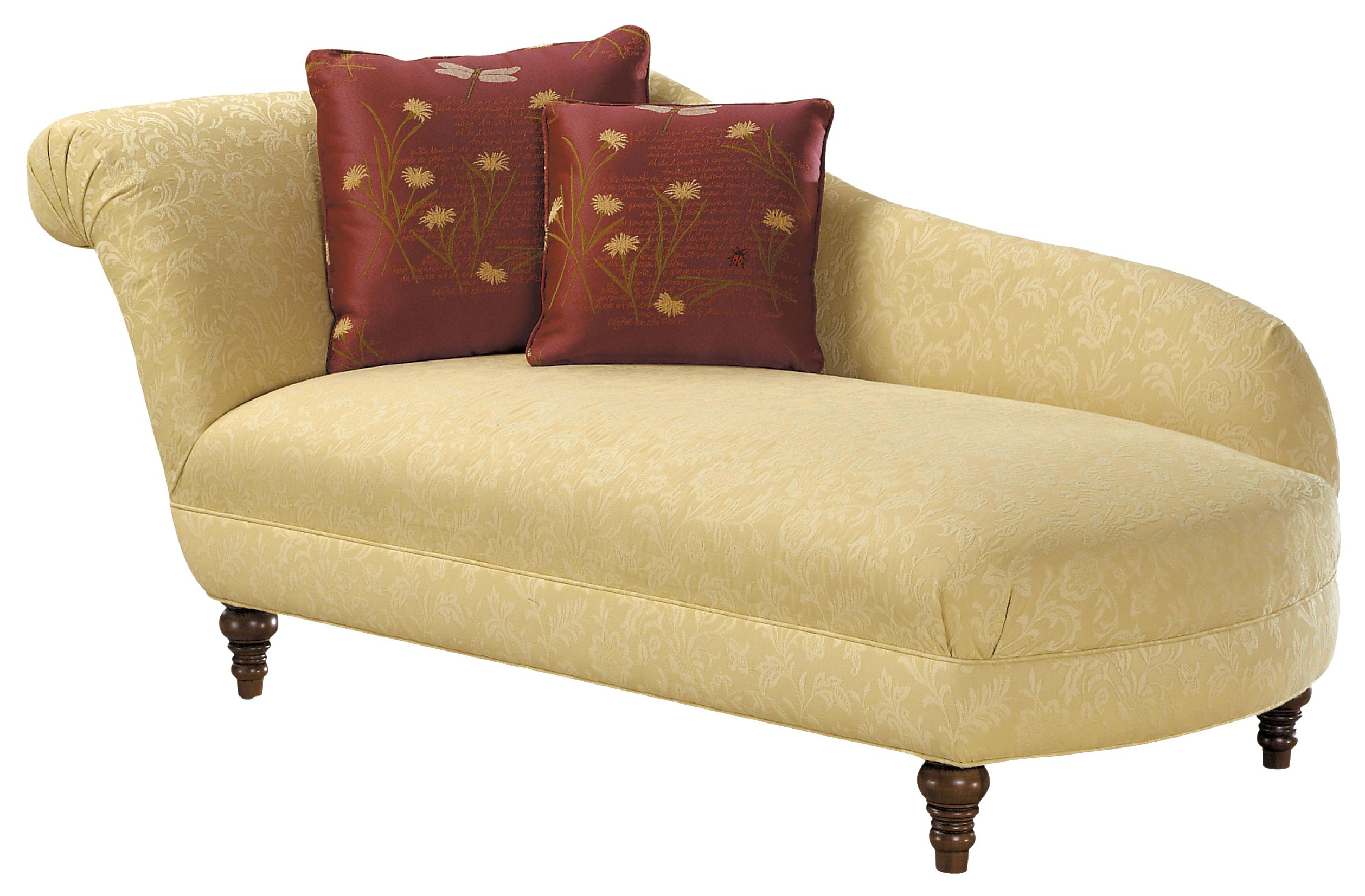 Chaise Sofa Chairs Intended For Most Current Fairfield Sofa Accents Traditional Styled Lounge Chaise (View 7 of 20)