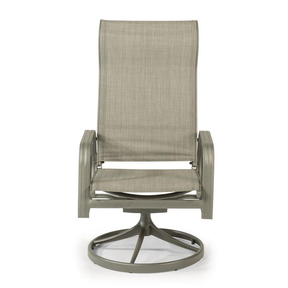 Charcoal Swivel Chairs Regarding Well Known Home Styles Daytona Charcoal Gray Swivel Aluminum Outdoor Dining (View 5 of 20)