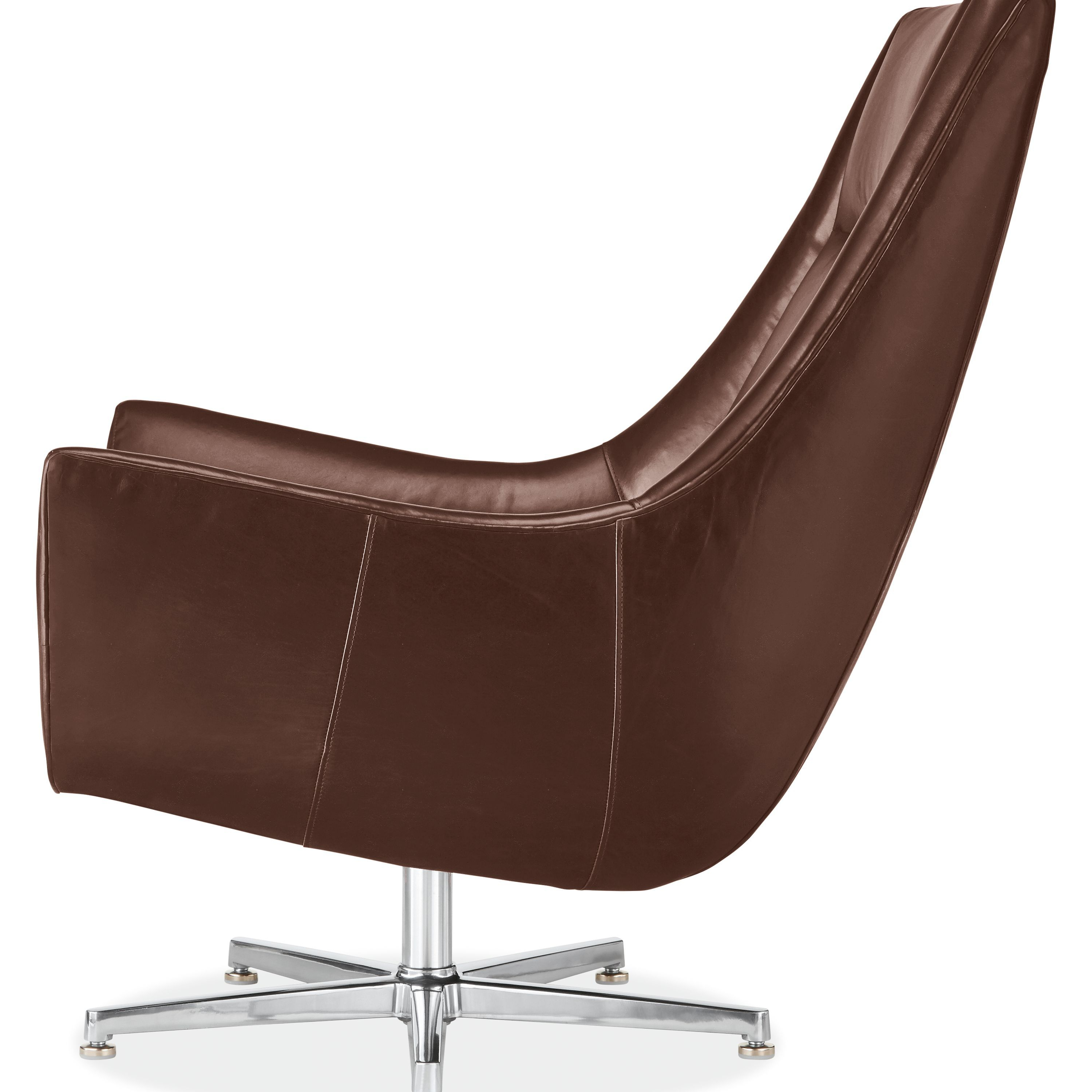 Charles Leather Swivel Chair & Ottoman With Aluminum (View 8 of 20)