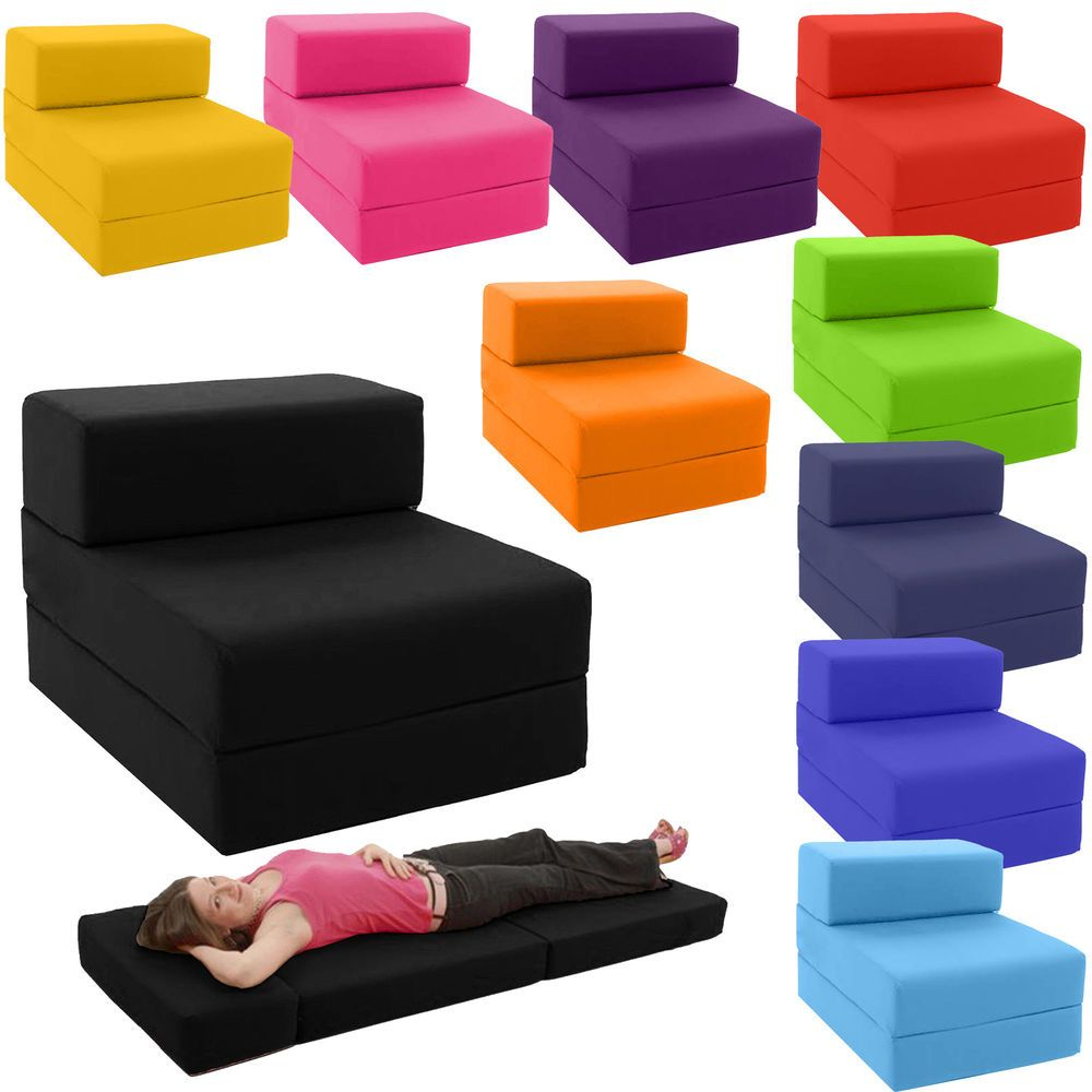 Cheap Single Sofa Bed Chairs In Well Known Single Chair Bed Z Guest Fold Out Futon Sofa Chairbed Lounger (View 13 of 20)