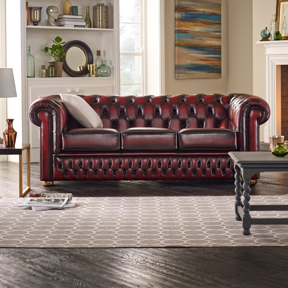 Chesterfield Sofa And Chairs With Regard To Most Current Buy A 3 Seater Chesterfield Sofa At Sofassaxon (View 4 of 20)
