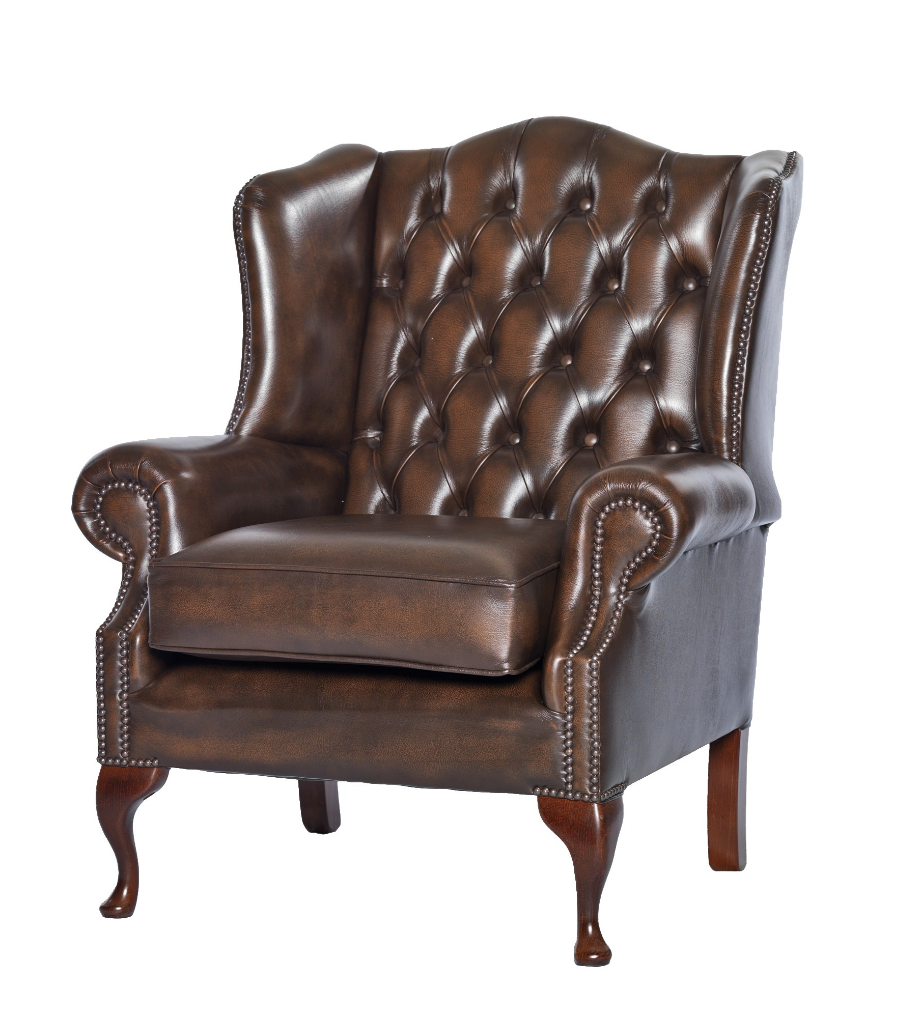 Chesterfield Sofa And Chairs Within Preferred Queen Anne Leather Chesterfield Sofa Or Chair – Leather Sofas And Chairs (View 5 of 20)