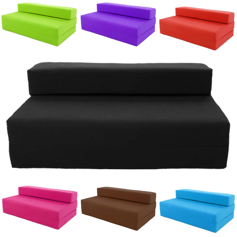Childrens Sofa Bed Chairs Throughout Most Current Block Filled Fold Up Sofa Bed Z Guest Foam Futon Mattress In/outdoor (View 6 of 20)