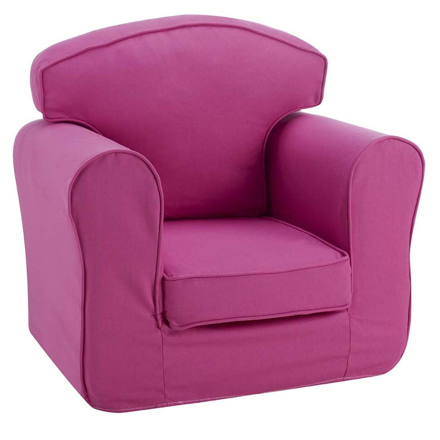 Childrens Sofa Bed Chairs With Regard To Well Liked Children's Chair Single Sofa – Pink (View 4 of 20)