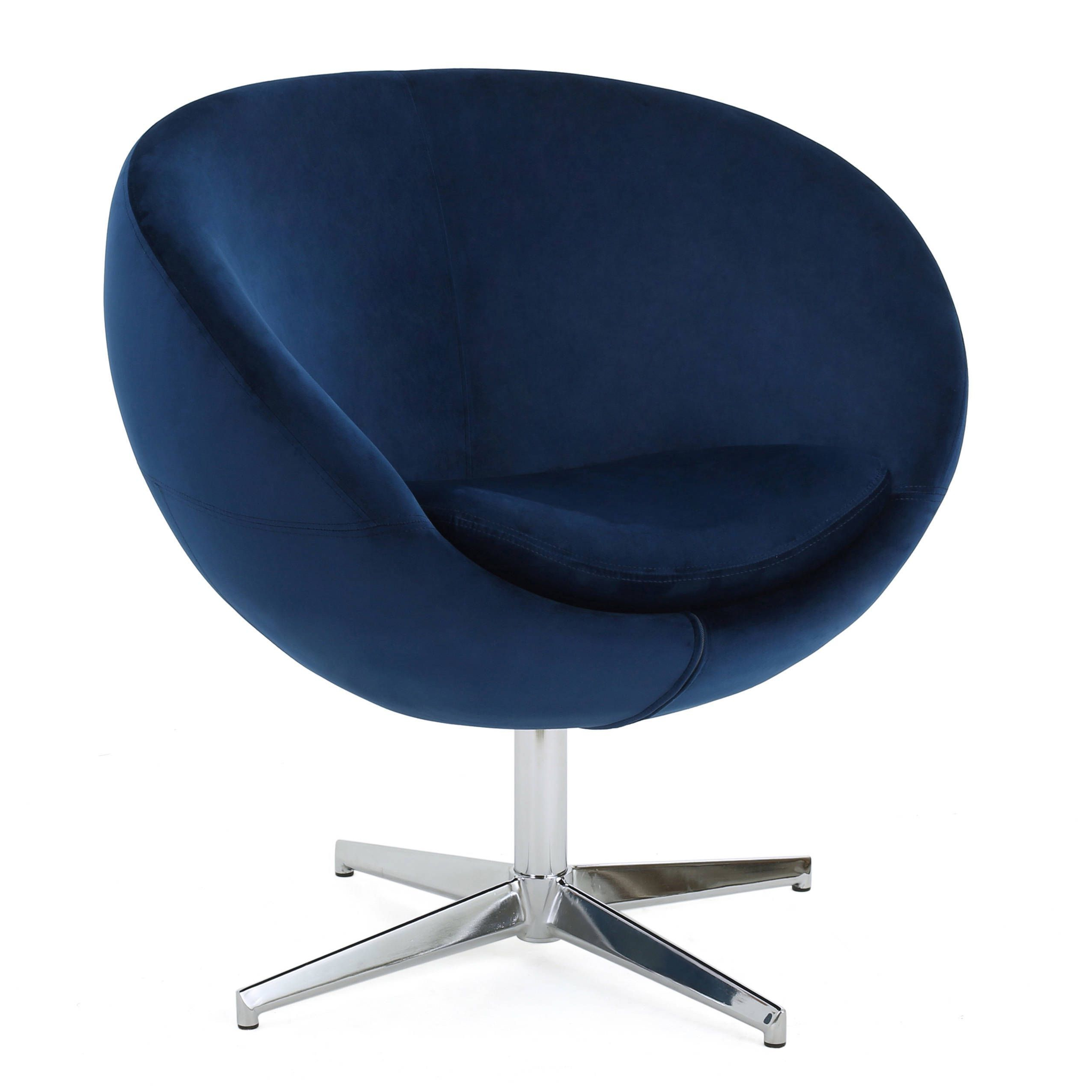 Chill Swivel Chairs With Metal Base Inside Well Known Isla Velvet Fabric Roundback Modern Chairchristopher Knight Home (View 7 of 20)