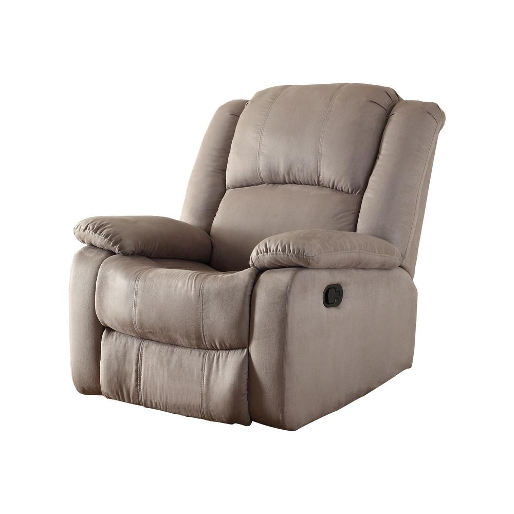 Chocolate – Chairs – Living Room Furniture – The Home Depot Regarding Most Popular Hercules Chocolate Swivel Glider Recliners (View 14 of 20)