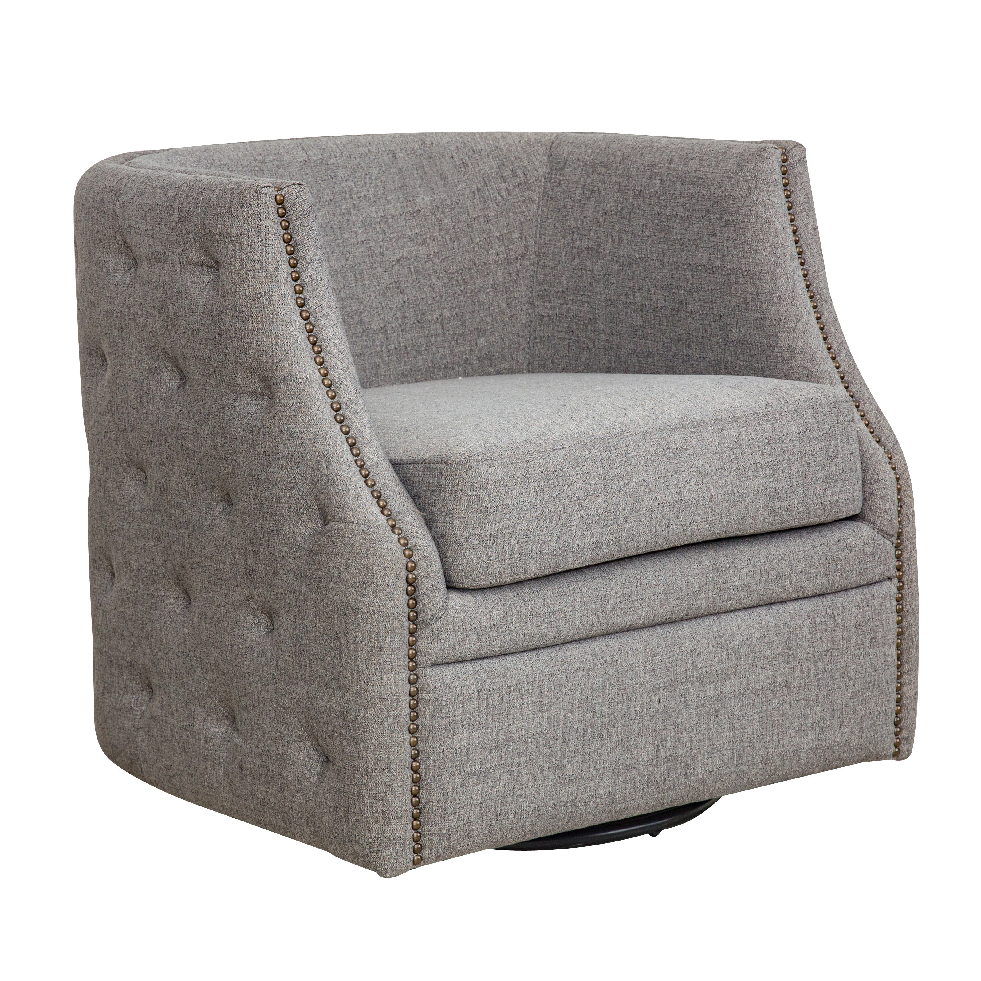 Circuit Swivel Accent Chairs Within Latest Red Barrel Studio Dichiera Swivel Armchair (View 7 of 20)