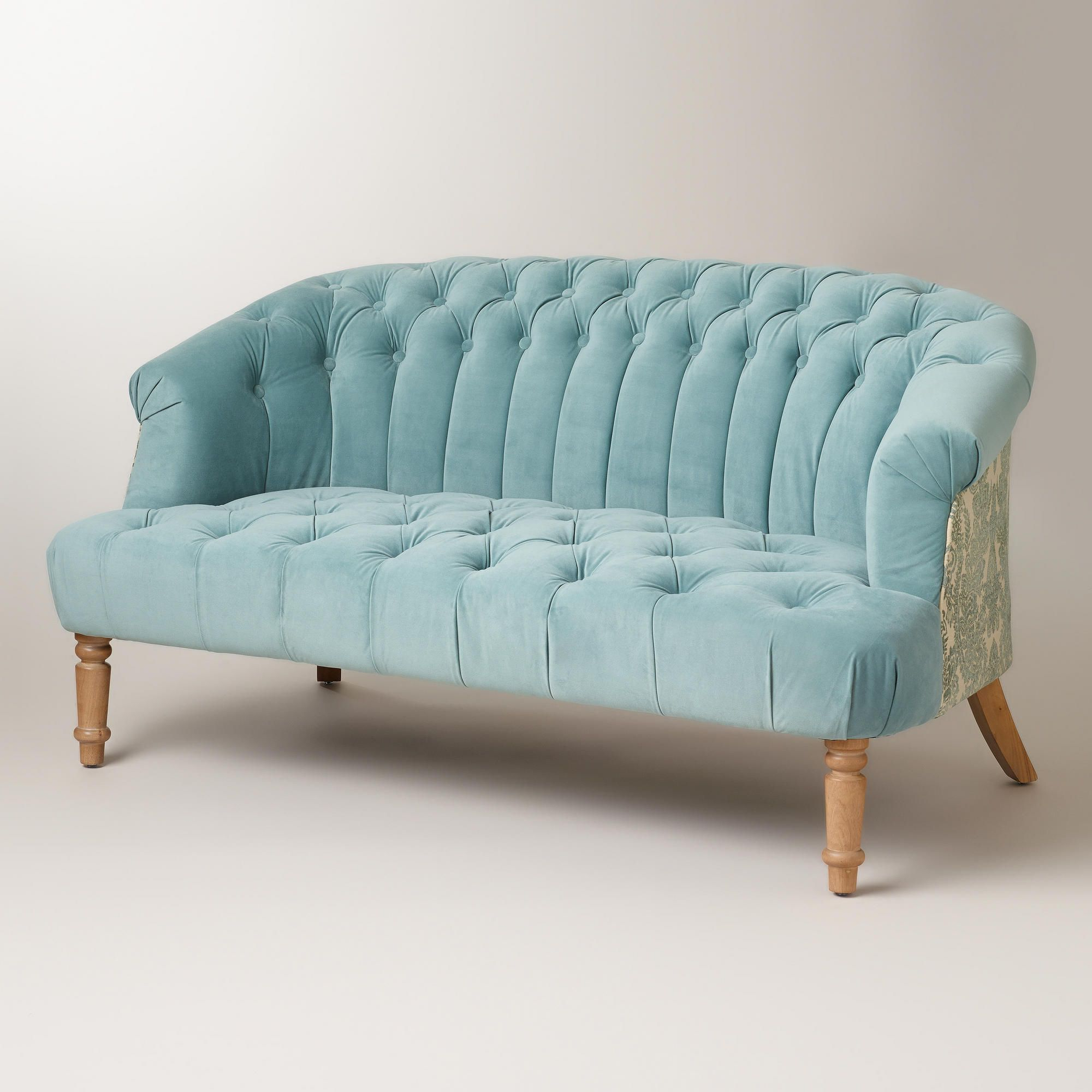 Cloud Blue Abigail Loveseat (Gallery 4 of 20)