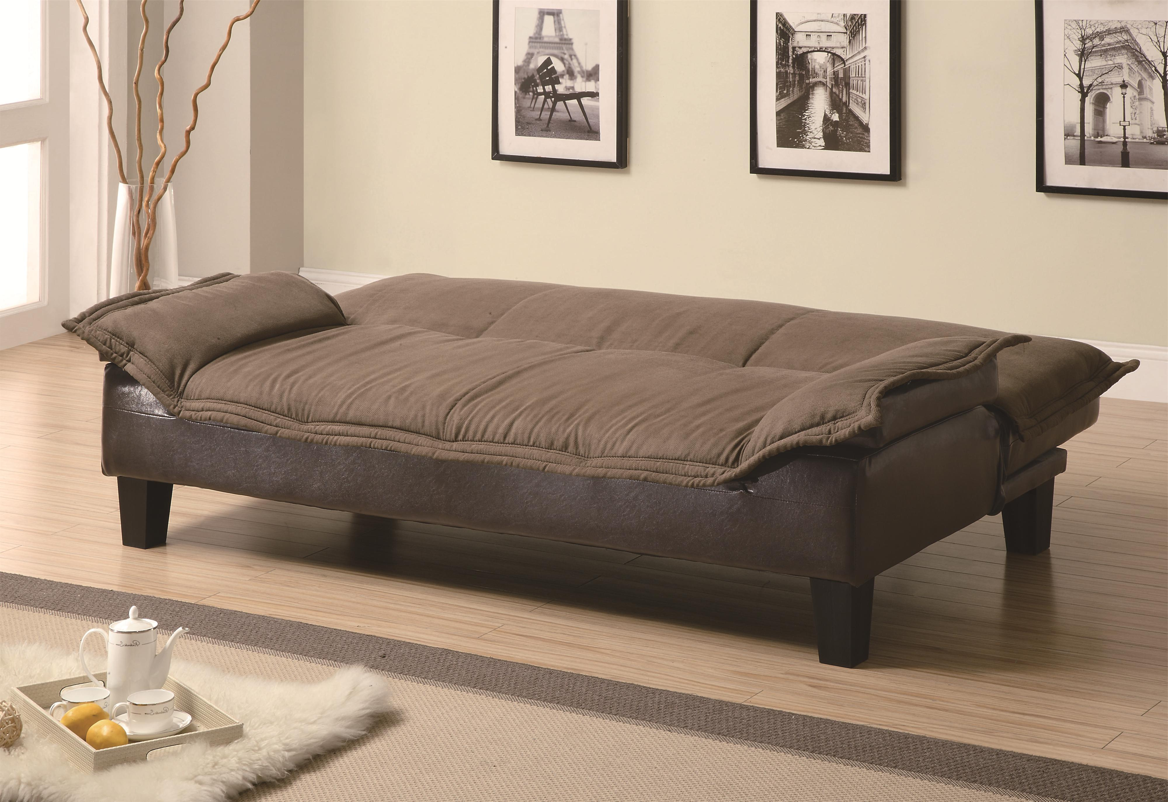 Coaster Sofa Beds And Futons Ratchet Back Sofa Bed With Dark Brown With Regard To Fashionable Sofa Beds Chairs (View 3 of 20)