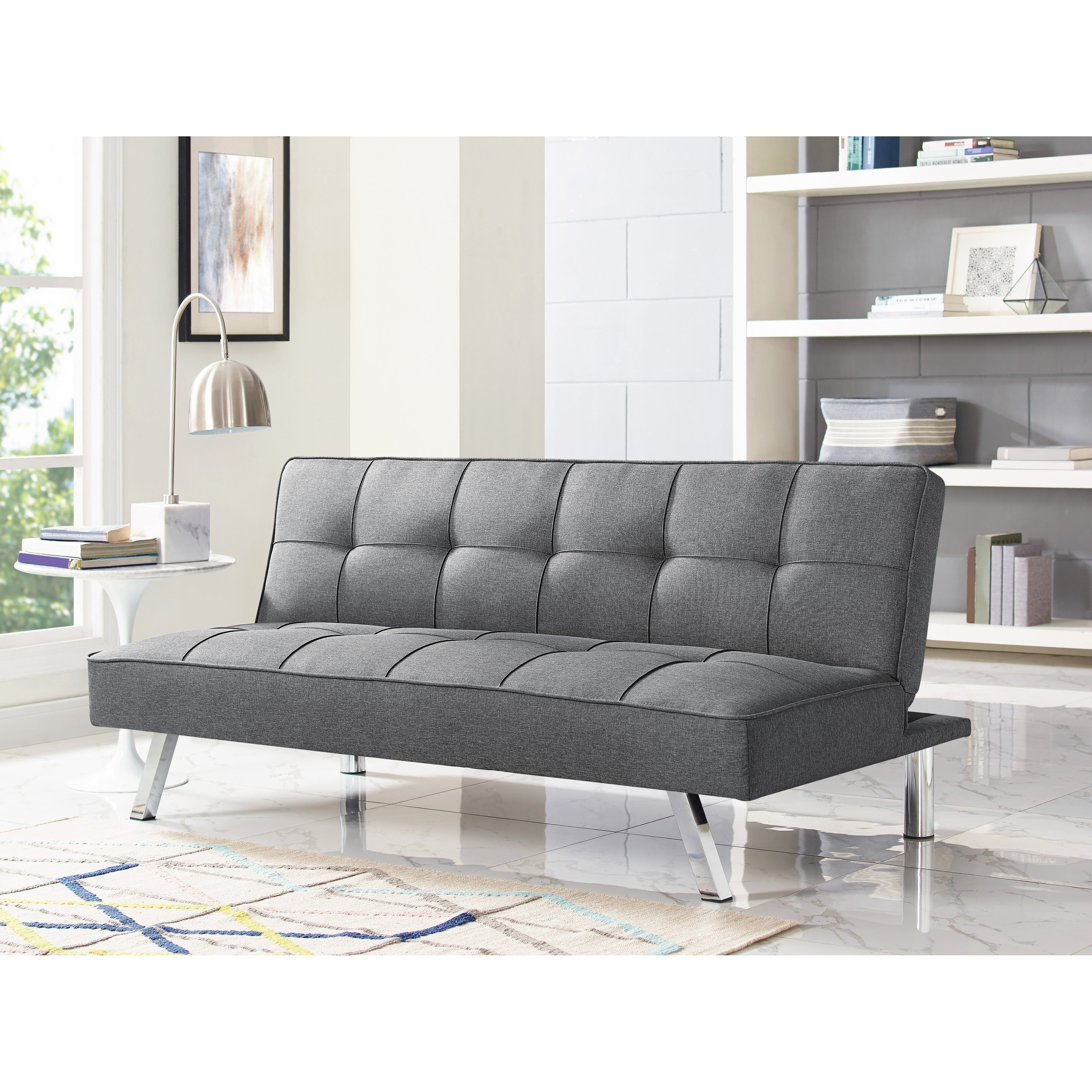 Cohen Foam Oversized Sofa Chairs In Most Recently Released Shop Serta Charlie Tufted Grey Upholstered Convertible Sofa – Free (View 7 of 20)