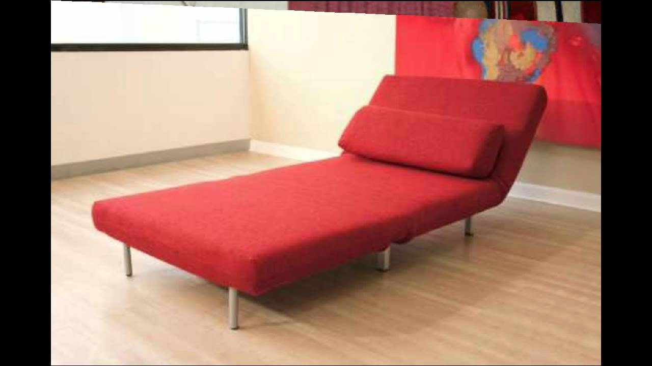 Convertible Sofa Chair Bed Intended For Well Liked Baxton Studios Romano Convertible Sofa Chair Bed Red – Youtube (View 4 of 20)