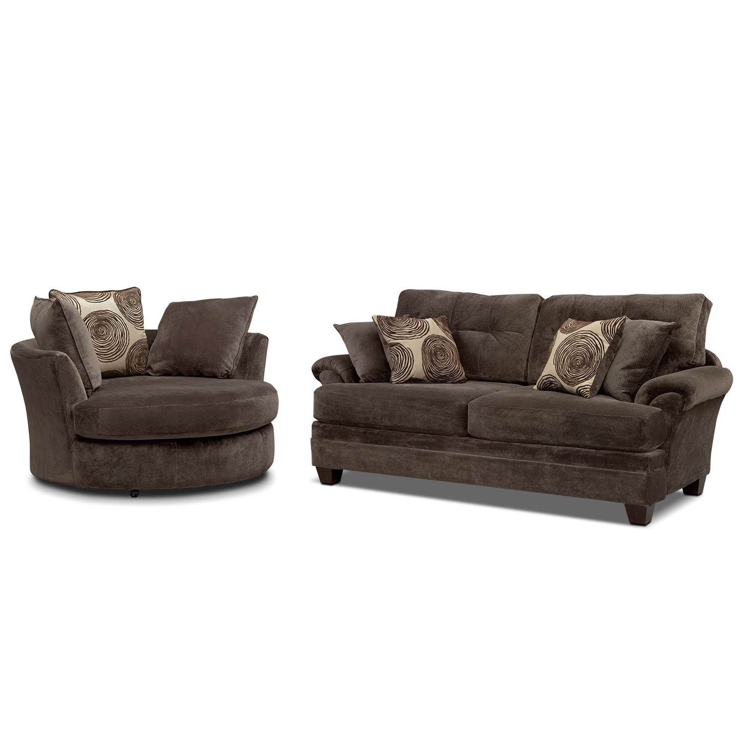 Cordelle Sofa And Swivel Chair Set (View 4 of 20)