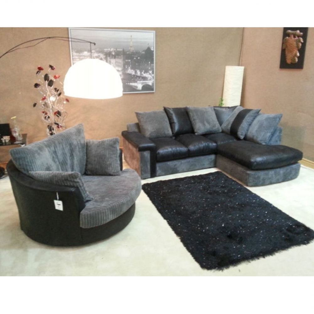 Corner Sofa And Swivel Chairs With Regard To Most Popular Cuddle Couch (View 6 of 20)