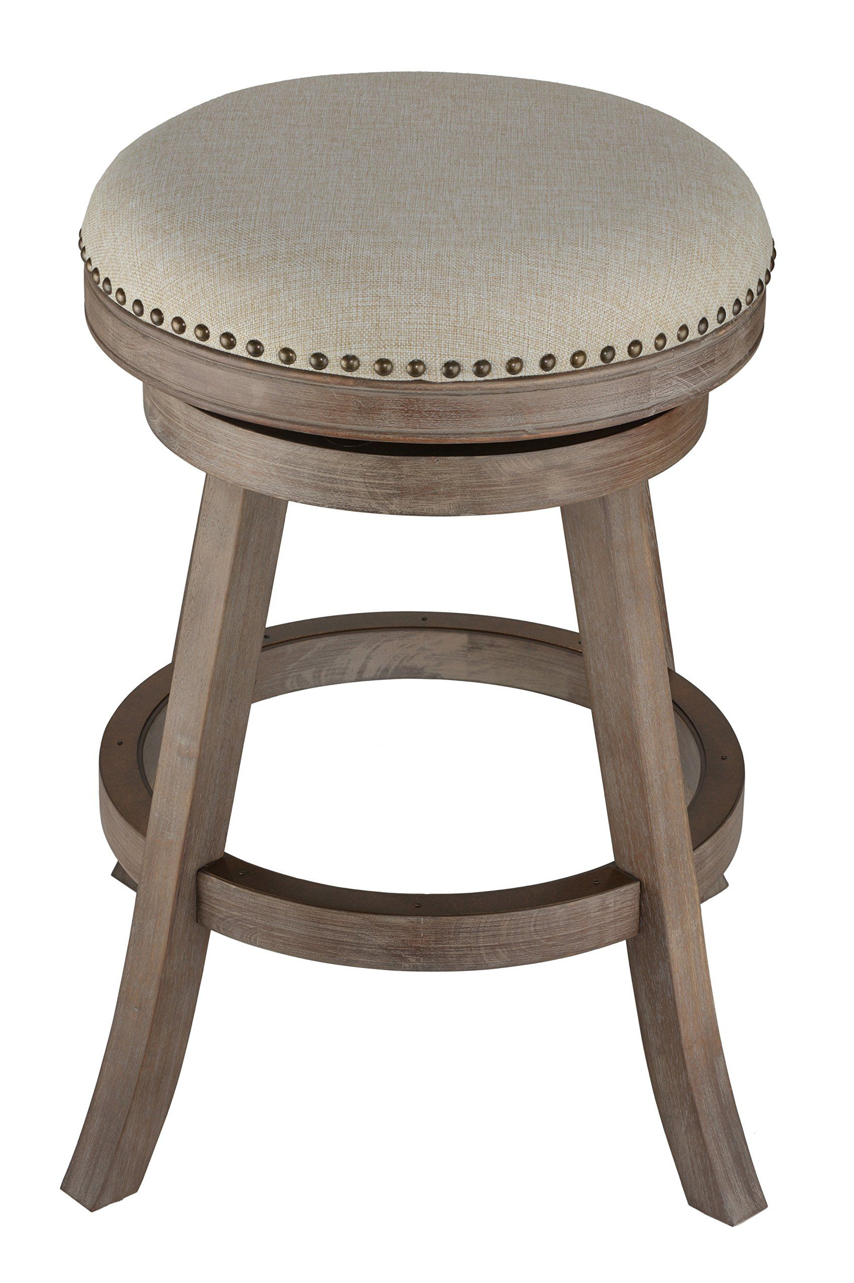 Cortesi Home Sadie Backless Swivel Counter Stool In Solid Wood Regarding Most Recently Released Sadie Ii Swivel Accent Chairs (View 5 of 20)