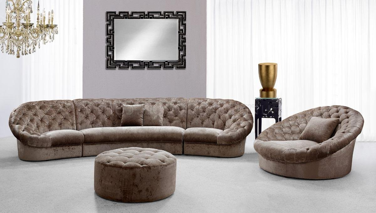 Cosmopolitan Mini Sectional Sofa, Chair, Ottoman Set Tan Fabric Pertaining To Well Liked Sofa Chair With Ottoman (Gallery 12 of 20)
