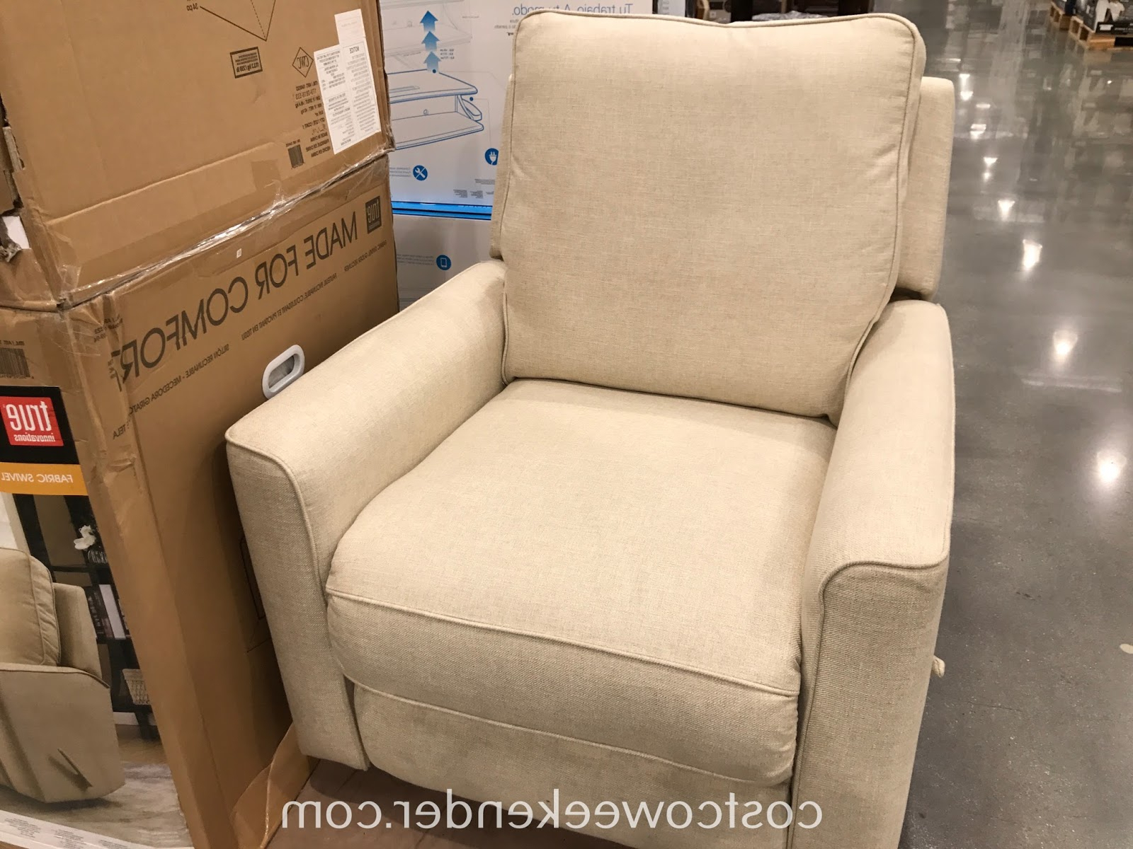 Costco Weekender With Most Up To Date Decker Ii Fabric Swivel Rocker Recliners (View 9 of 20)