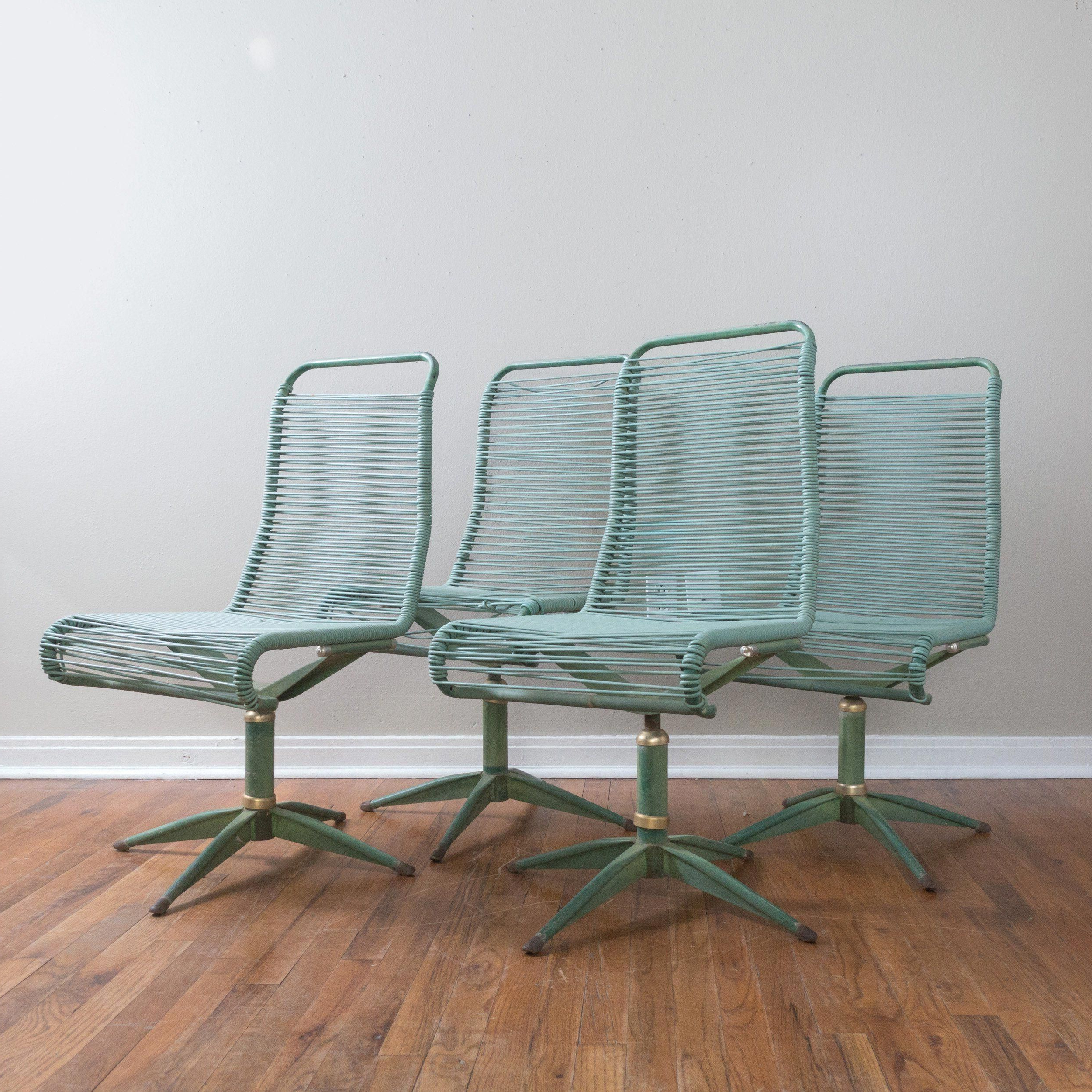 Current Ames Arm Sofa Chairs By Nate Berkus And Jeremiah Brent Within Set Of 4 Mid Century Ames Aire Green Patio Chairs Cabana Star Line (View 7 of 20)