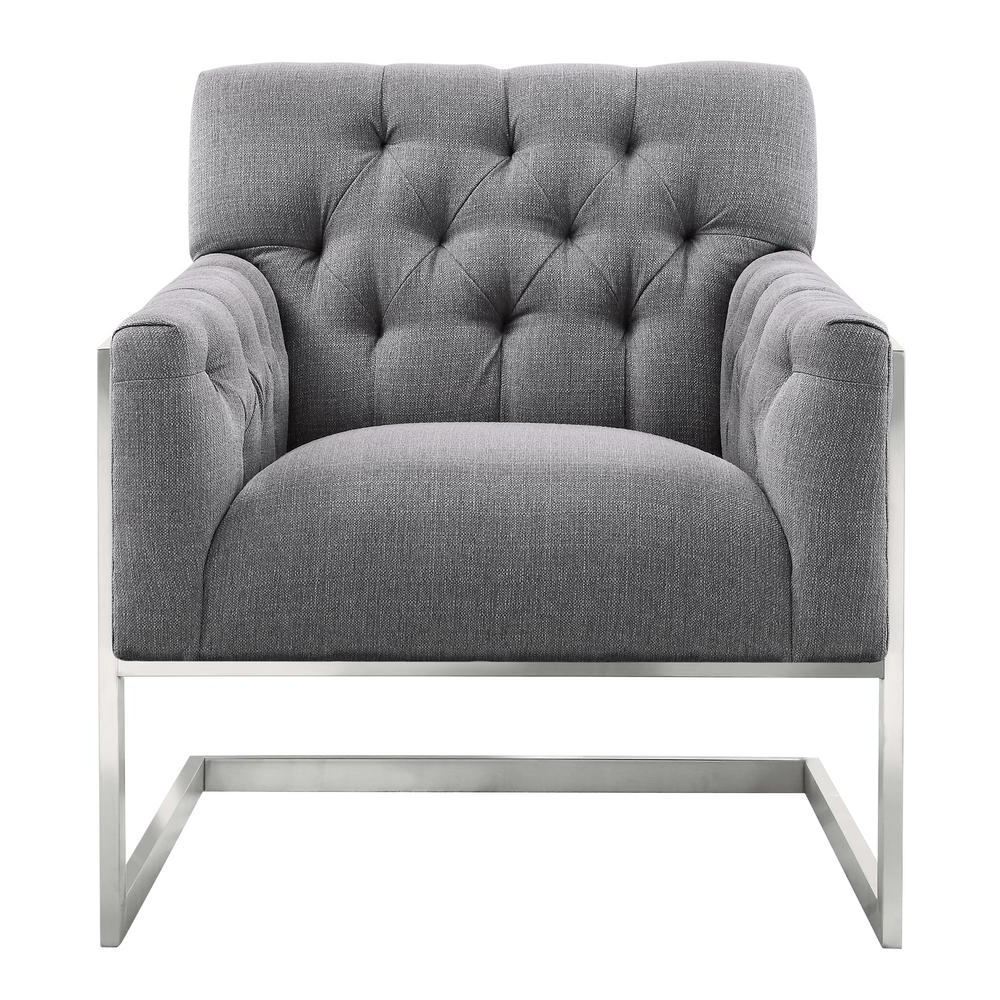 Current Armen Living Armen Living Emily Grey Fabric Contemporary Accent Throughout Loft Black Swivel Accent Chairs (View 7 of 20)