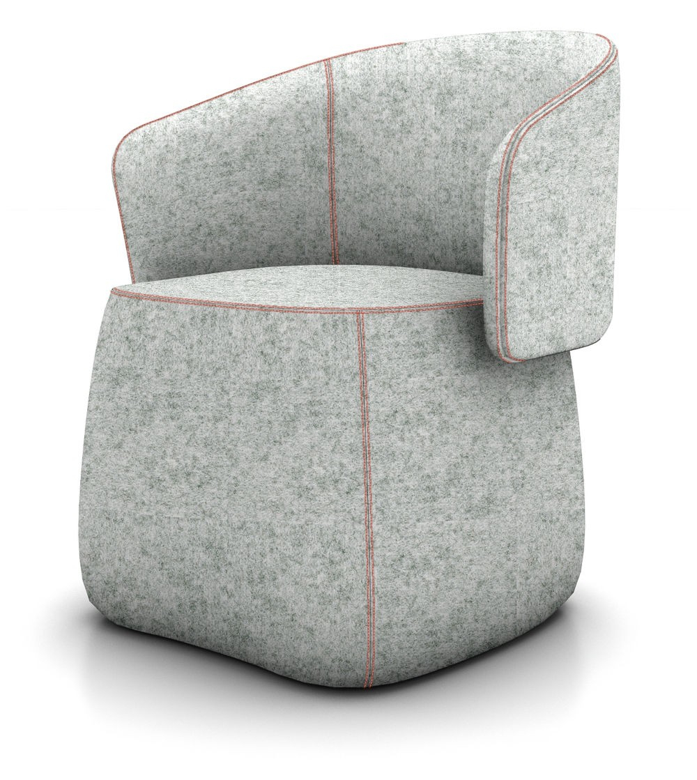 Current Haworth Openest Collection Chick Pouf With Back – Modern Planet Regarding Chadwick Tomato Swivel Accent Chairs (View 5 of 20)