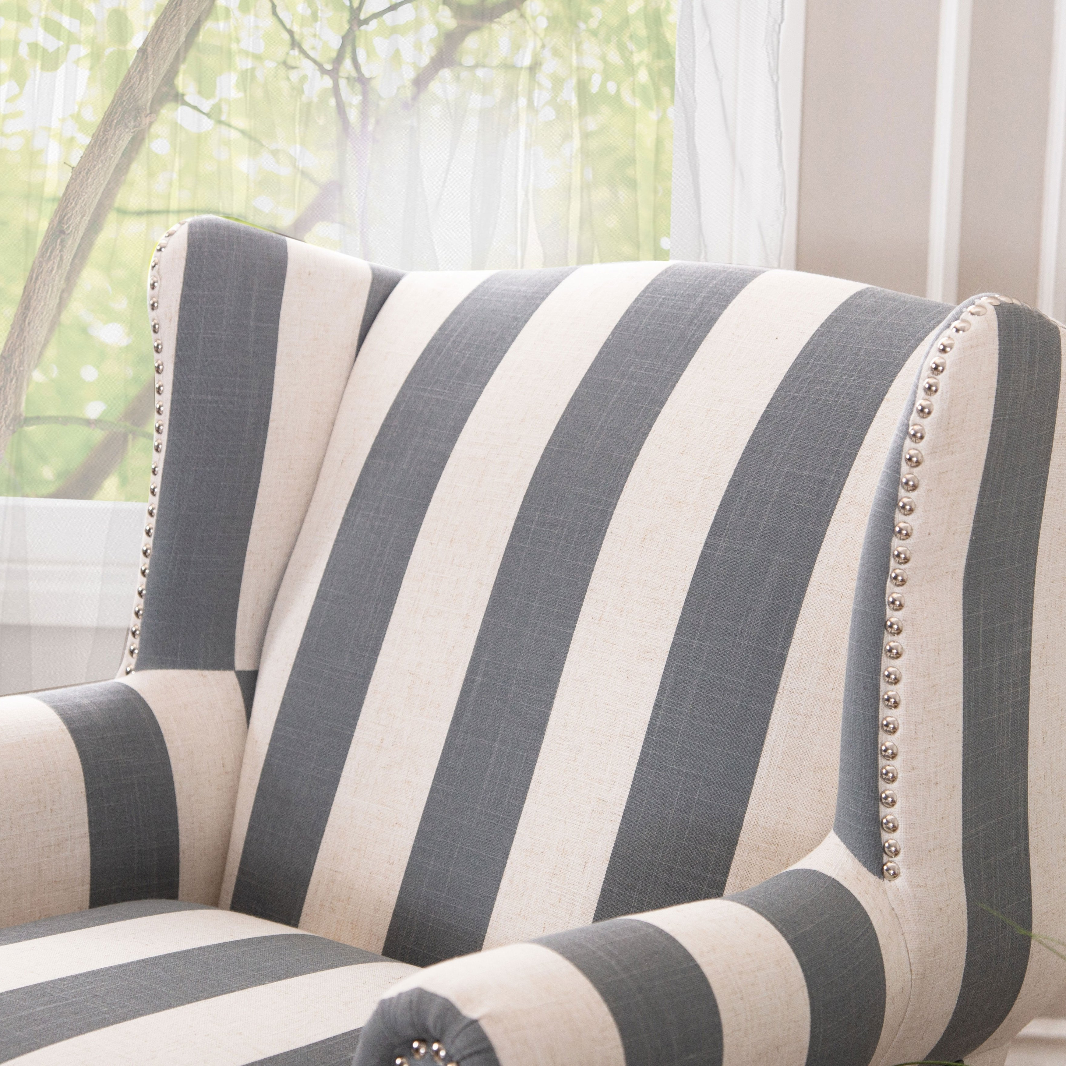 Current Shop Abbyson Radcliffe Two Tone Fabric Rocker Chair – On Sale – Free For Katrina Blue Swivel Glider Chairs (View 3 of 20)