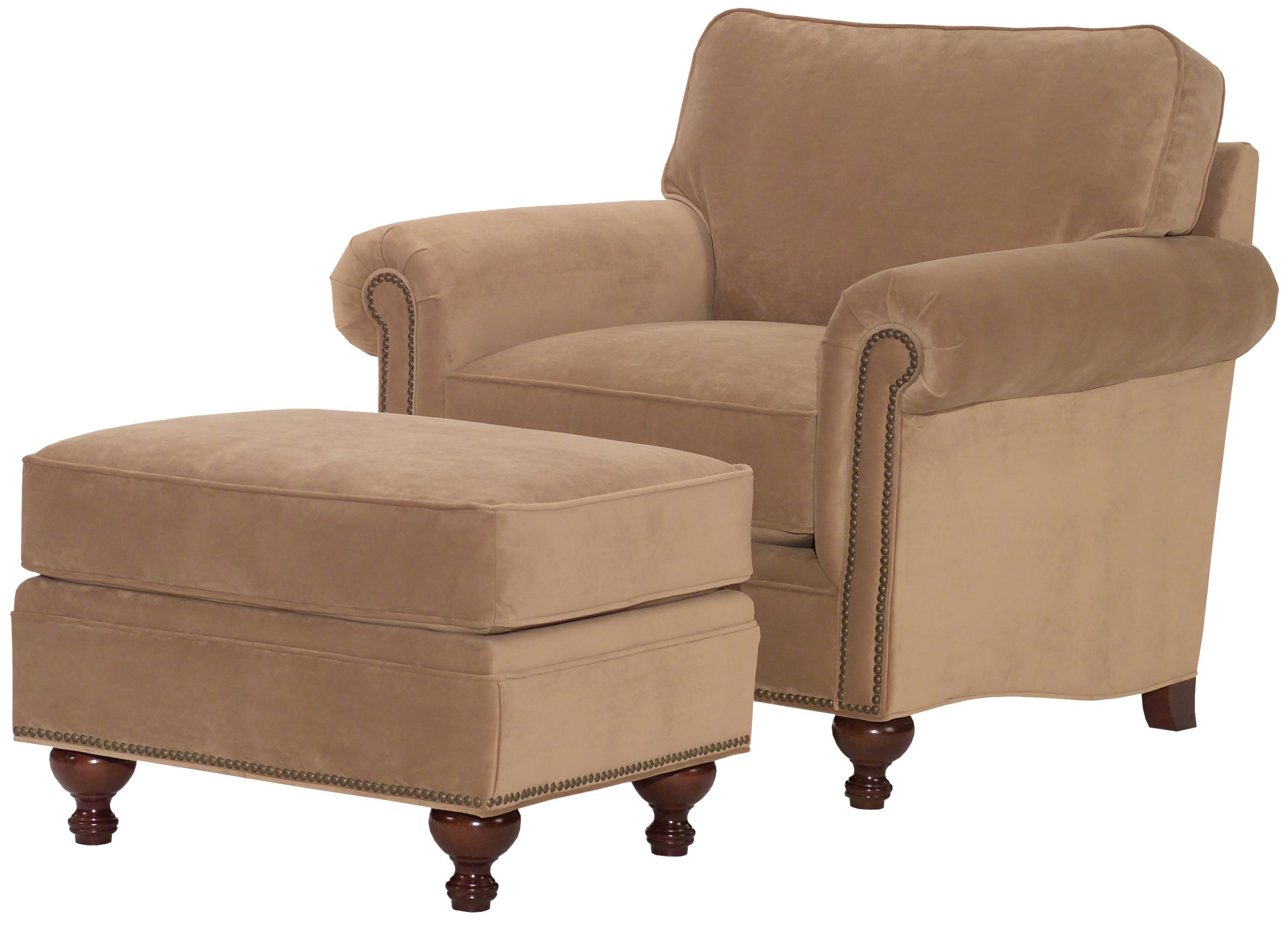 Current Sofa Chair With Ottoman With Broyhill Furniture Harrison Traditional Style Chair And Ottoman (View 5 of 20)