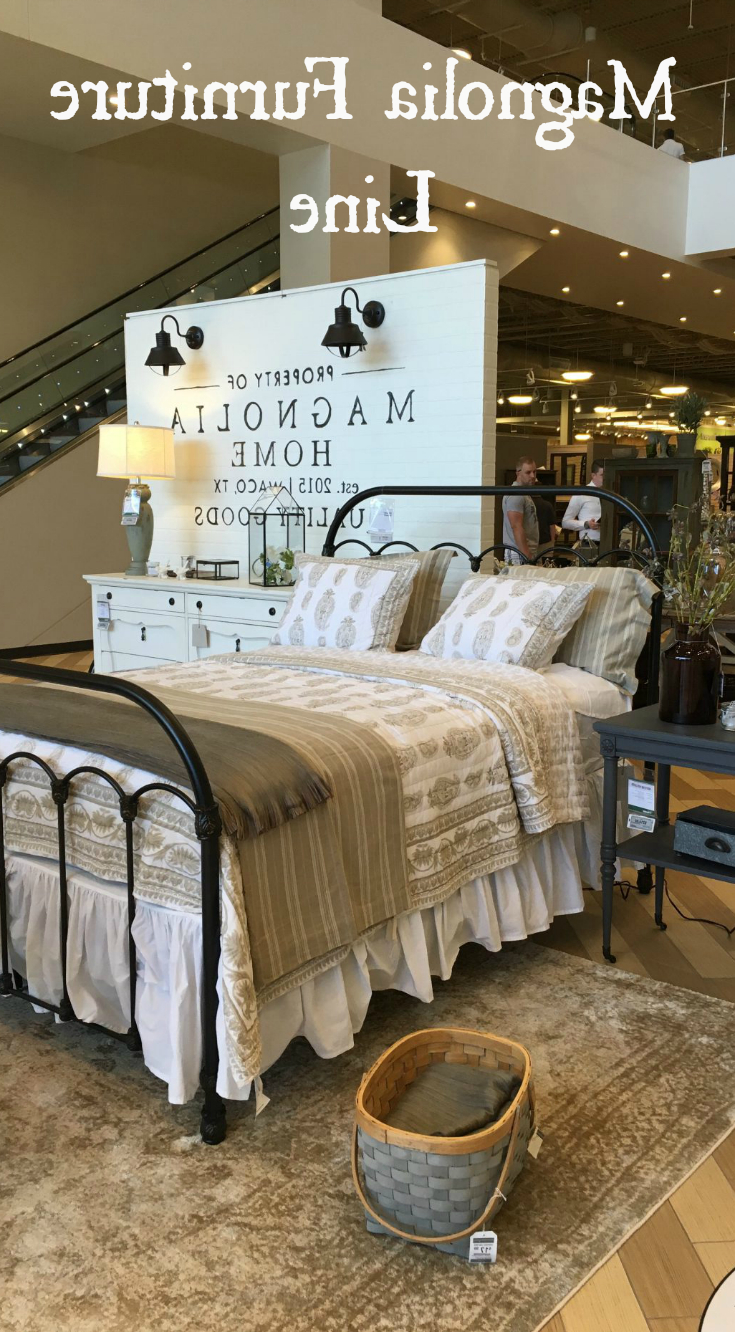 Current Take A Look At Fixer Upper's, Joanna Gaines', Furniture Line In Magnolia Home Ravel Linen Sofa Chairs (View 15 of 20)