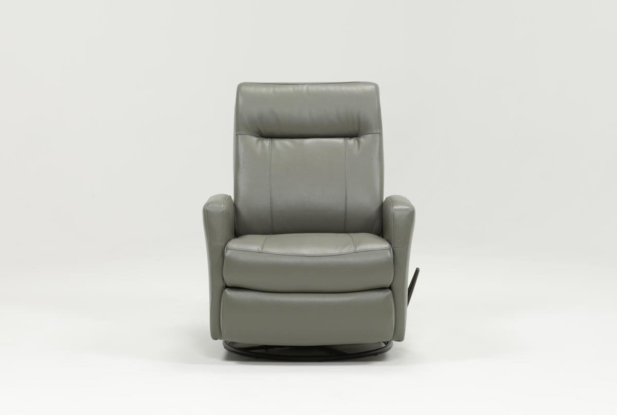 Dale Iii Polyurethane Swivel Glider Recliner (View 2 of 20)