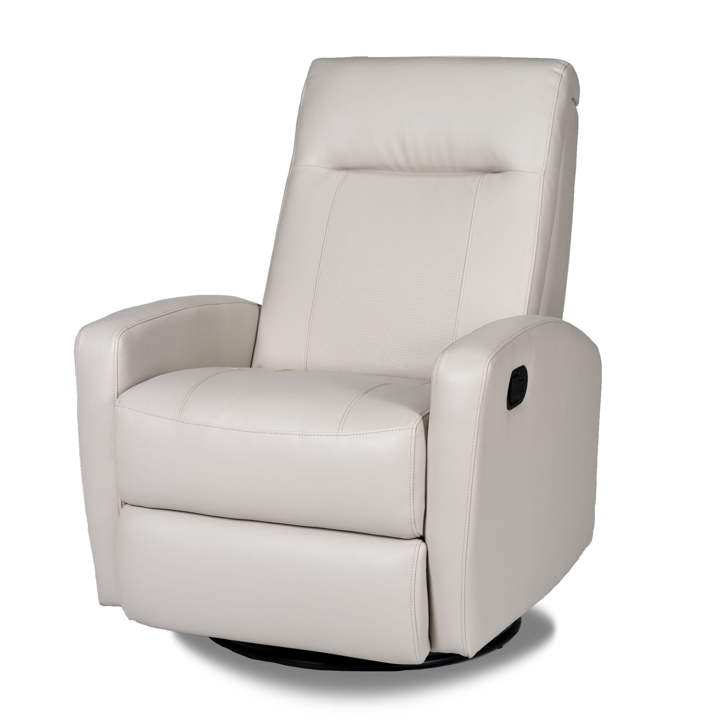 Dale Iii Polyurethane Swivel Glider Recliners Inside Trendy Stefan Bonded Leather Swivel Glider Recliner – Overstock™ Shopping (View 6 of 20)