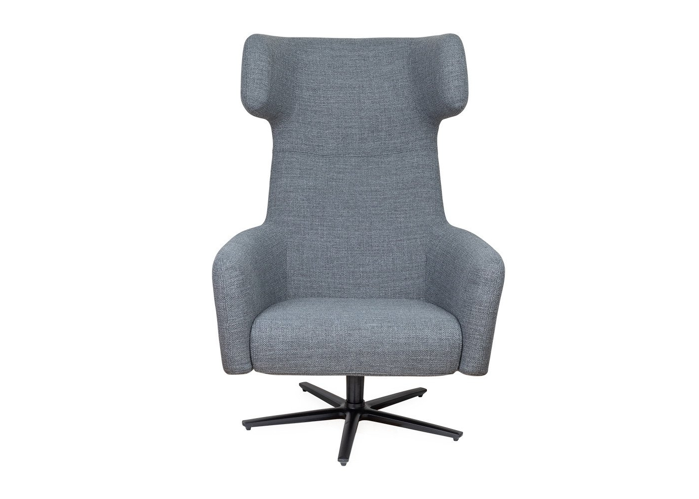 Dark Grey Swivel Chairs Pertaining To Most Popular Havana Wing Chair Swivel Base Tundra Dark Grey – Armchairs – Sofas (View 7 of 20)