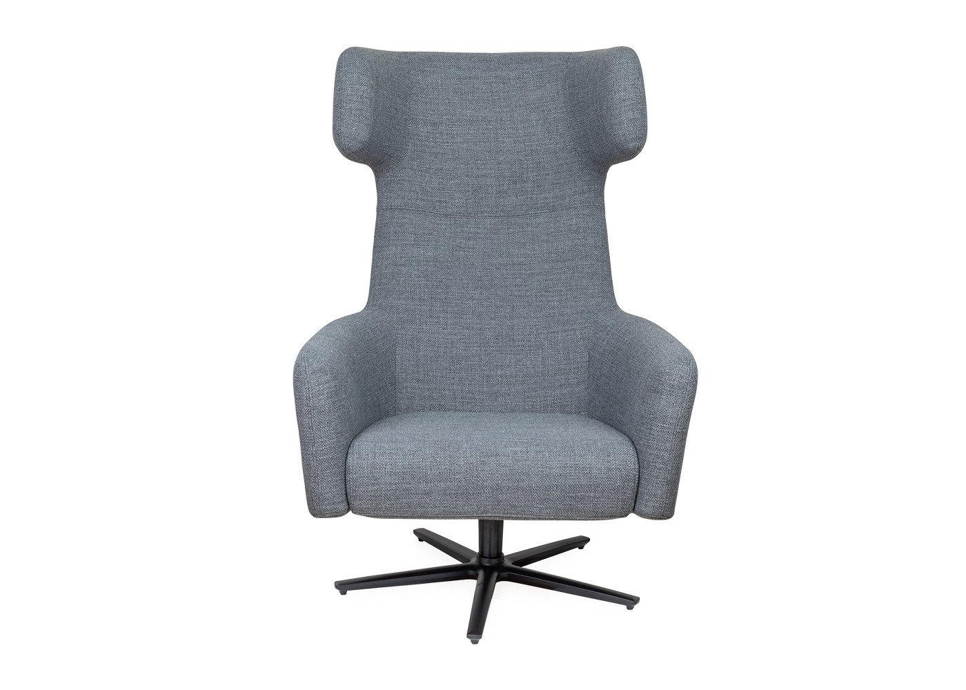 Dark Grey Swivel Chairs Pertaining To Most Popular Havana Wing Chair Swivel Base Tundra Dark Grey – Armchairs – Sofas (Gallery 7 of 20)