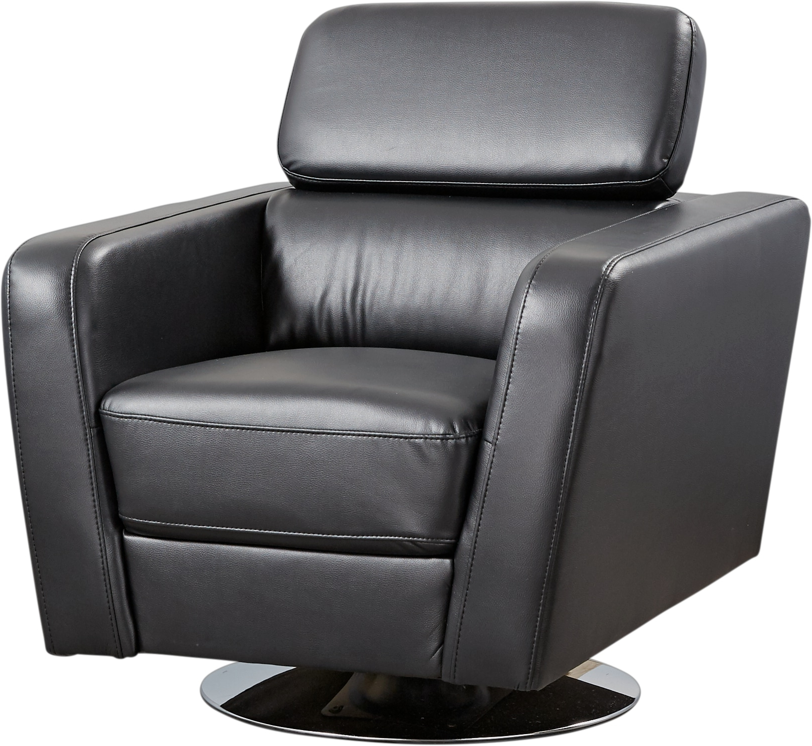 Dellinger Black Swivel Chair – Accent Chairs (Black) Pertaining To Most Current Leather Black Swivel Chairs (Gallery 11 of 20)