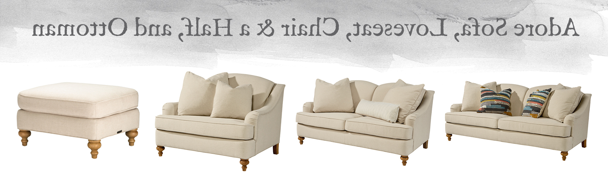 Design Within Magnolia Home Dapper Fog Sofa Chairs (View 8 of 20)