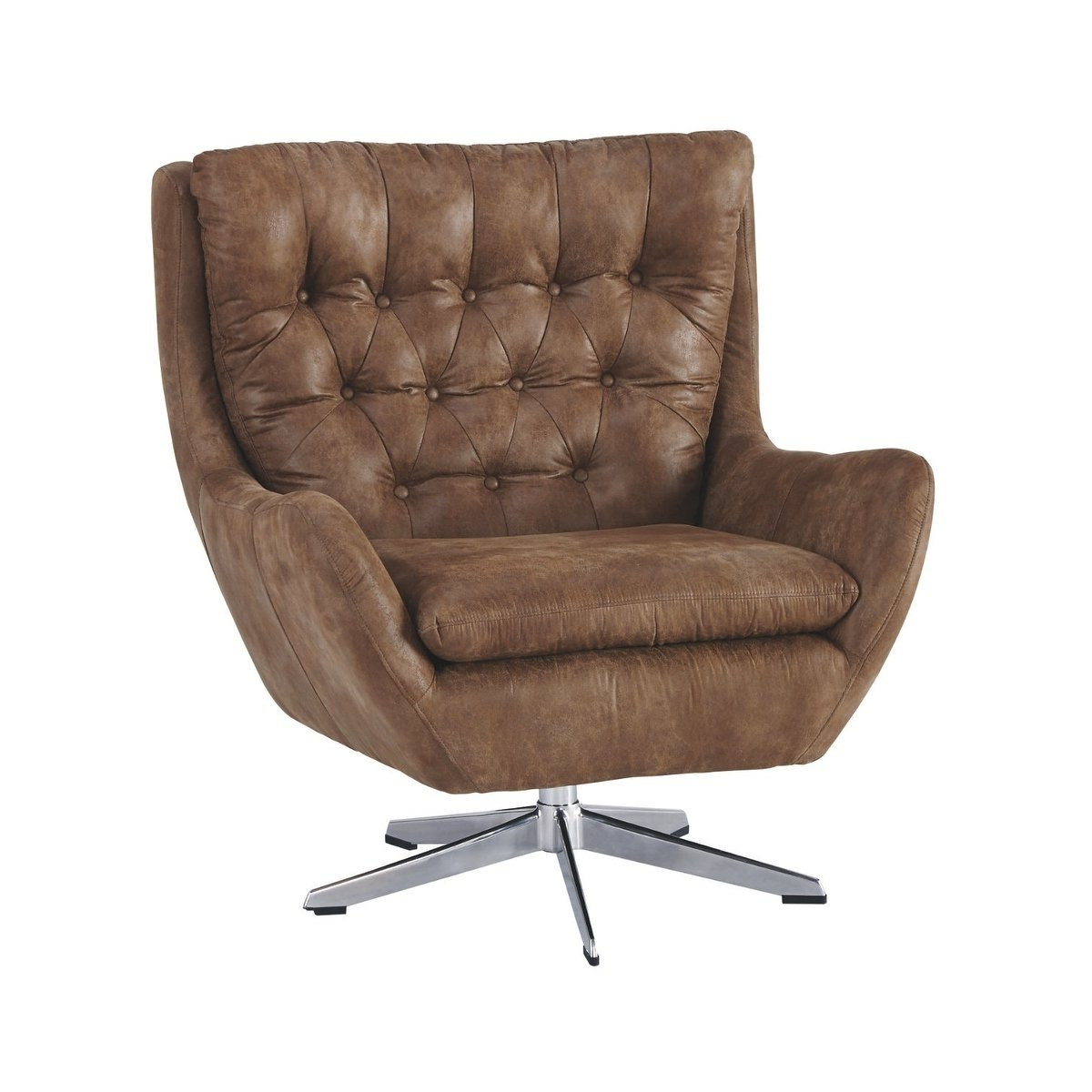 Devon Ii Swivel Accent Chairs Regarding Trendy Shop Signature Designashley Velburg Swivel Accent Chair – Free (View 5 of 20)