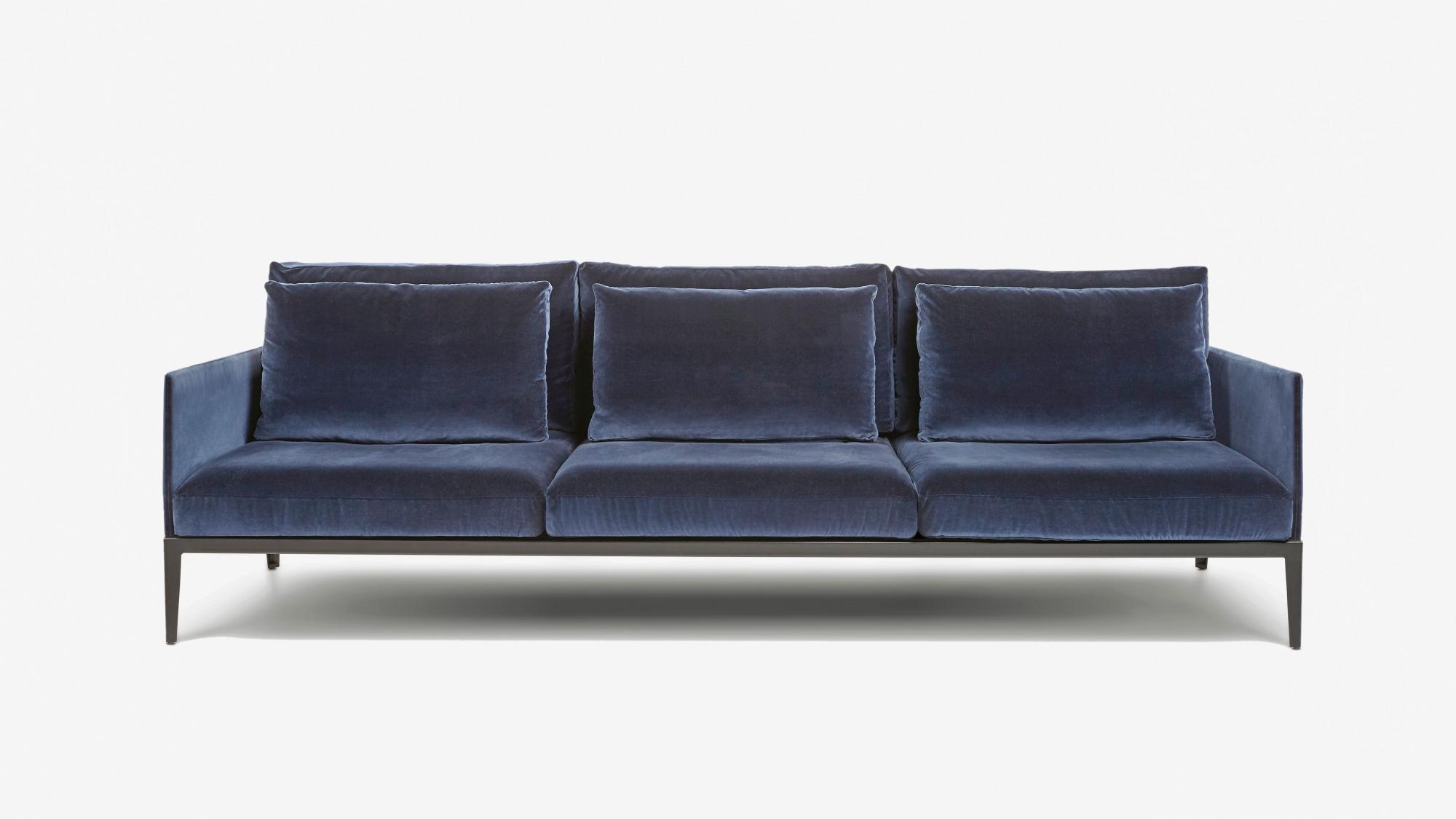 District Inside Gina Blue Leather Sofa Chairs (Gallery 20 of 20)