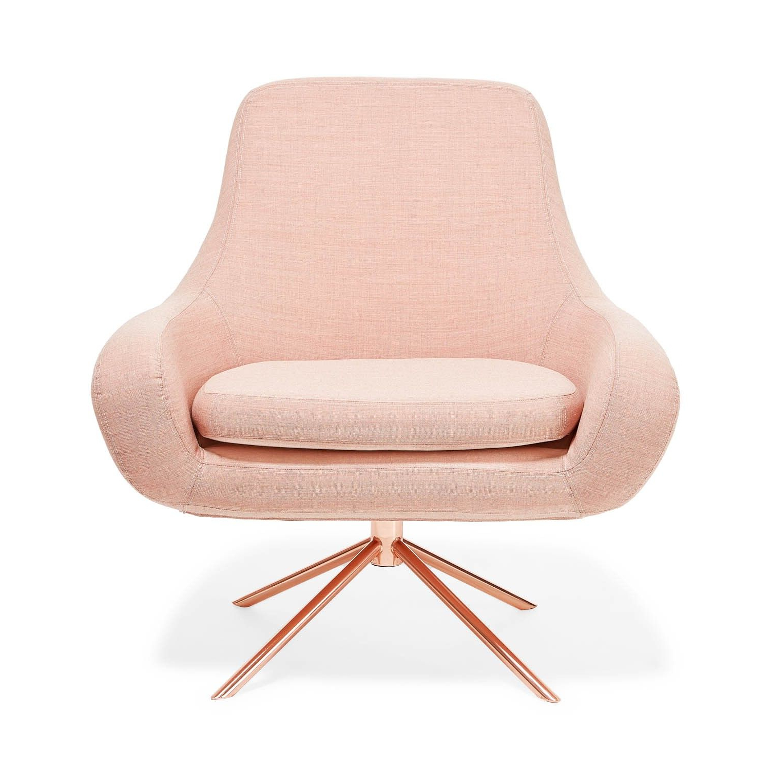 Drawing Inspiration From Mid Century Modern Styles, Architects Busk Throughout Favorite Chill Swivel Chairs With Metal Base (View 10 of 20)