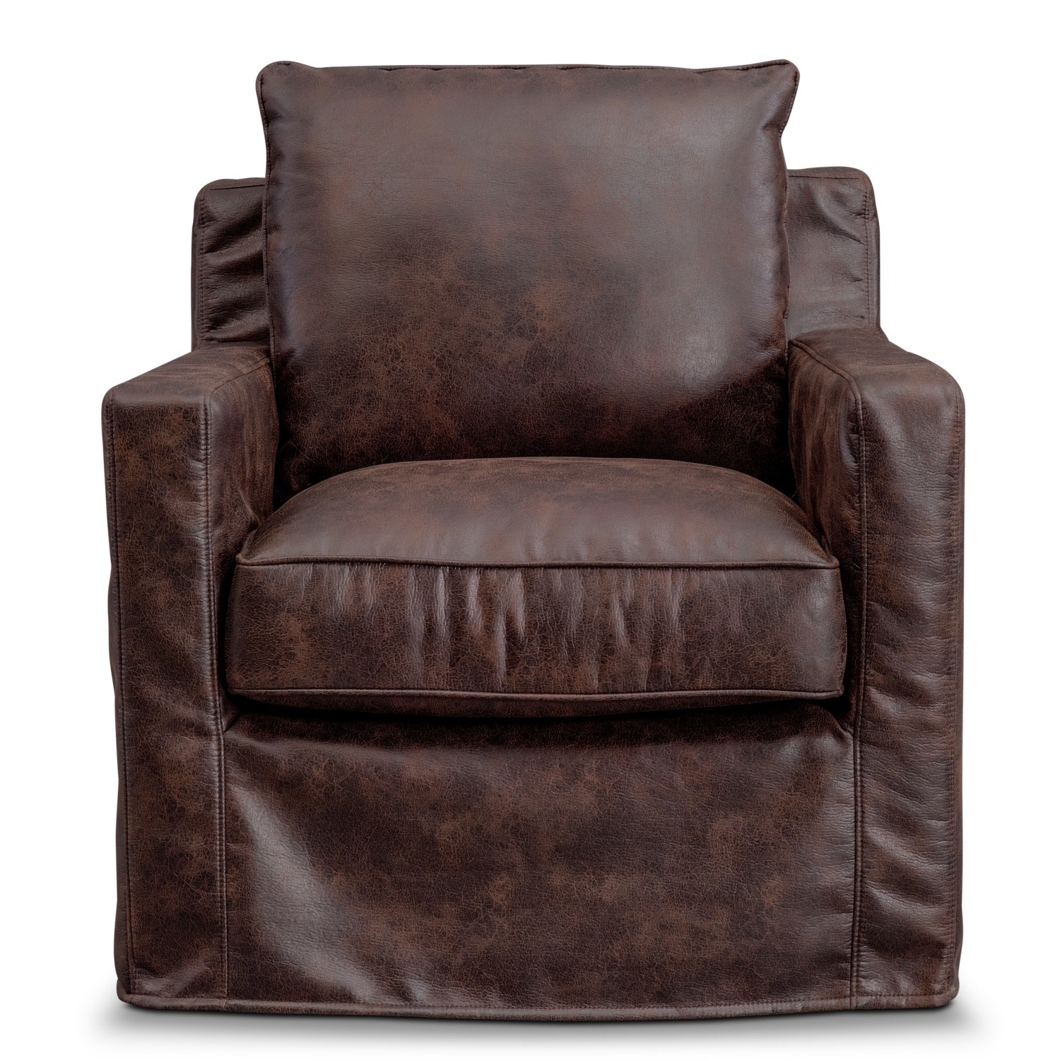 Eastwood Swivel Chair – Coffee (View 9 of 20)