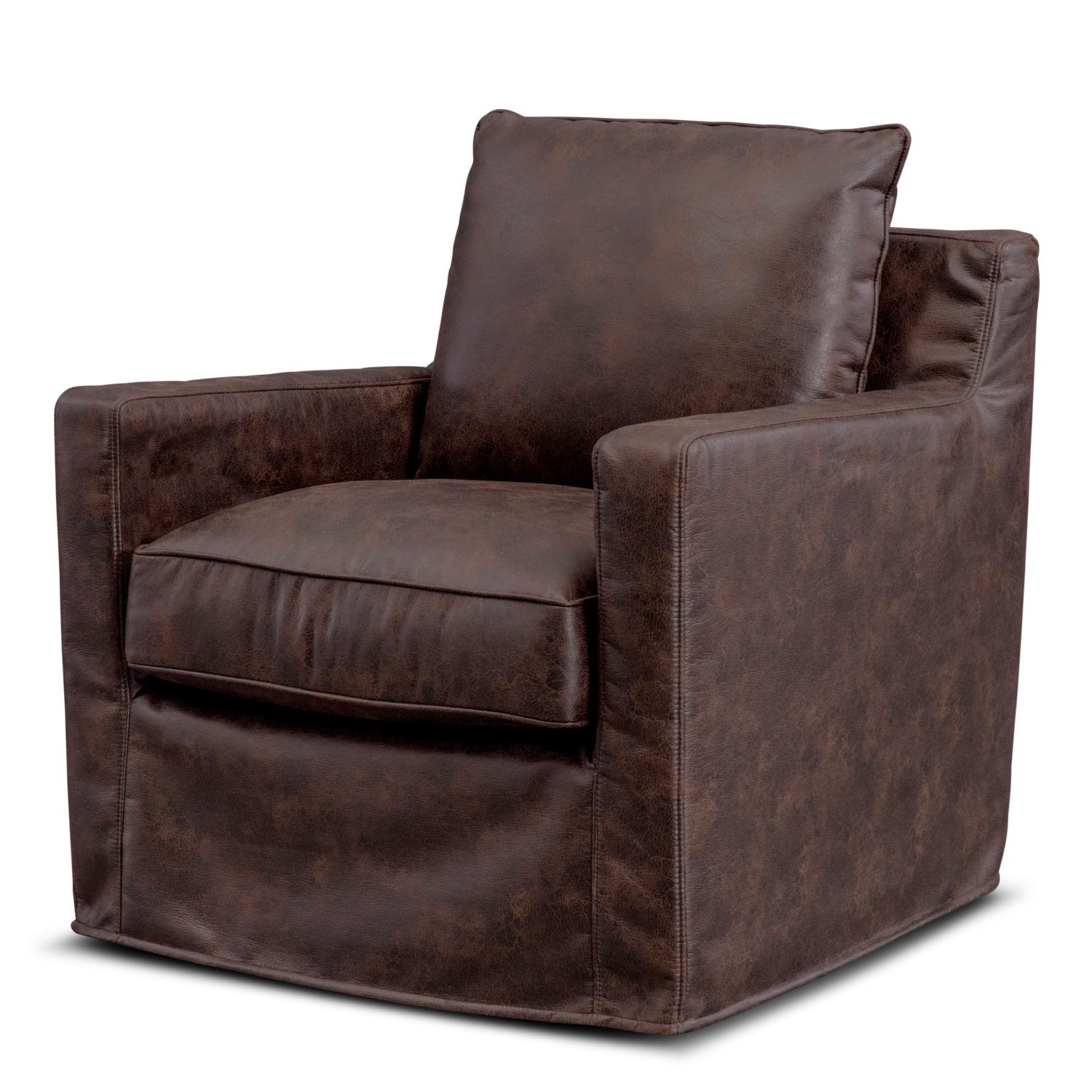 Eastwood Swivel Chair – Coffee (View 8 of 20)