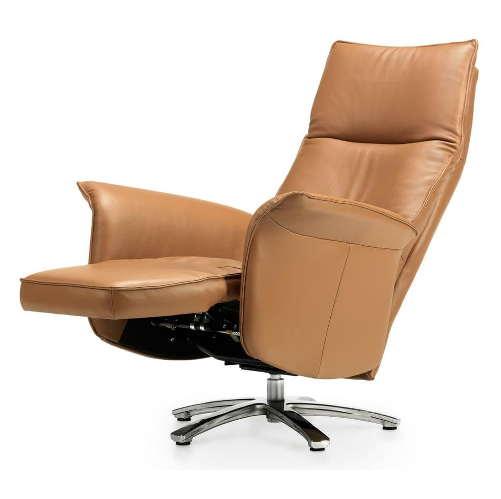 Espresso Leather Swivel Chairs Intended For Widely Used Furniture: Luxury Swivel Recliner Chairs Ideas – Reclining Swivel (View 11 of 20)