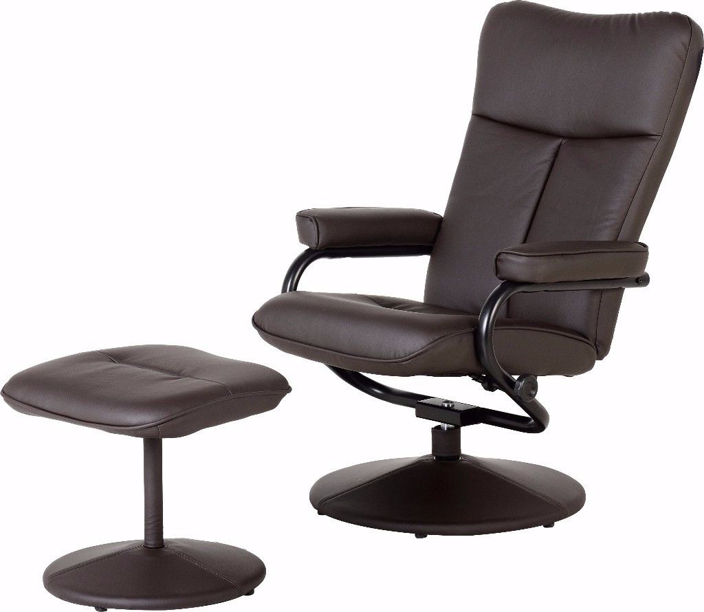 Espresso Leather Swivel Chairs With 2018 Dark Espresso Brown Faux Leather Recliner, Swivel Chair With (View 13 of 20)