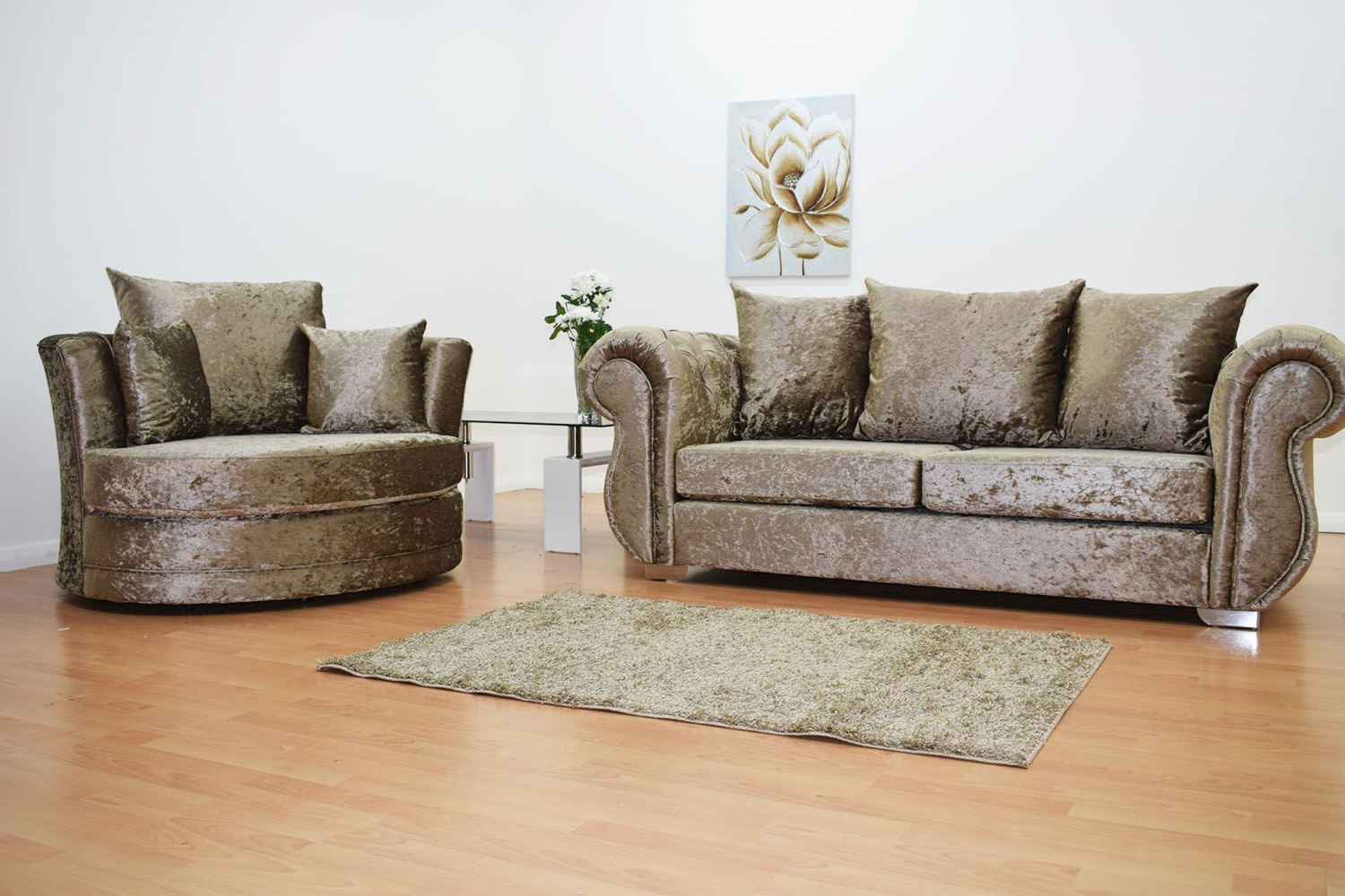 Famous 3 Seater Sofa And Cuddle Chairs With Regard To Furnish365 (Gallery 11 of 20)