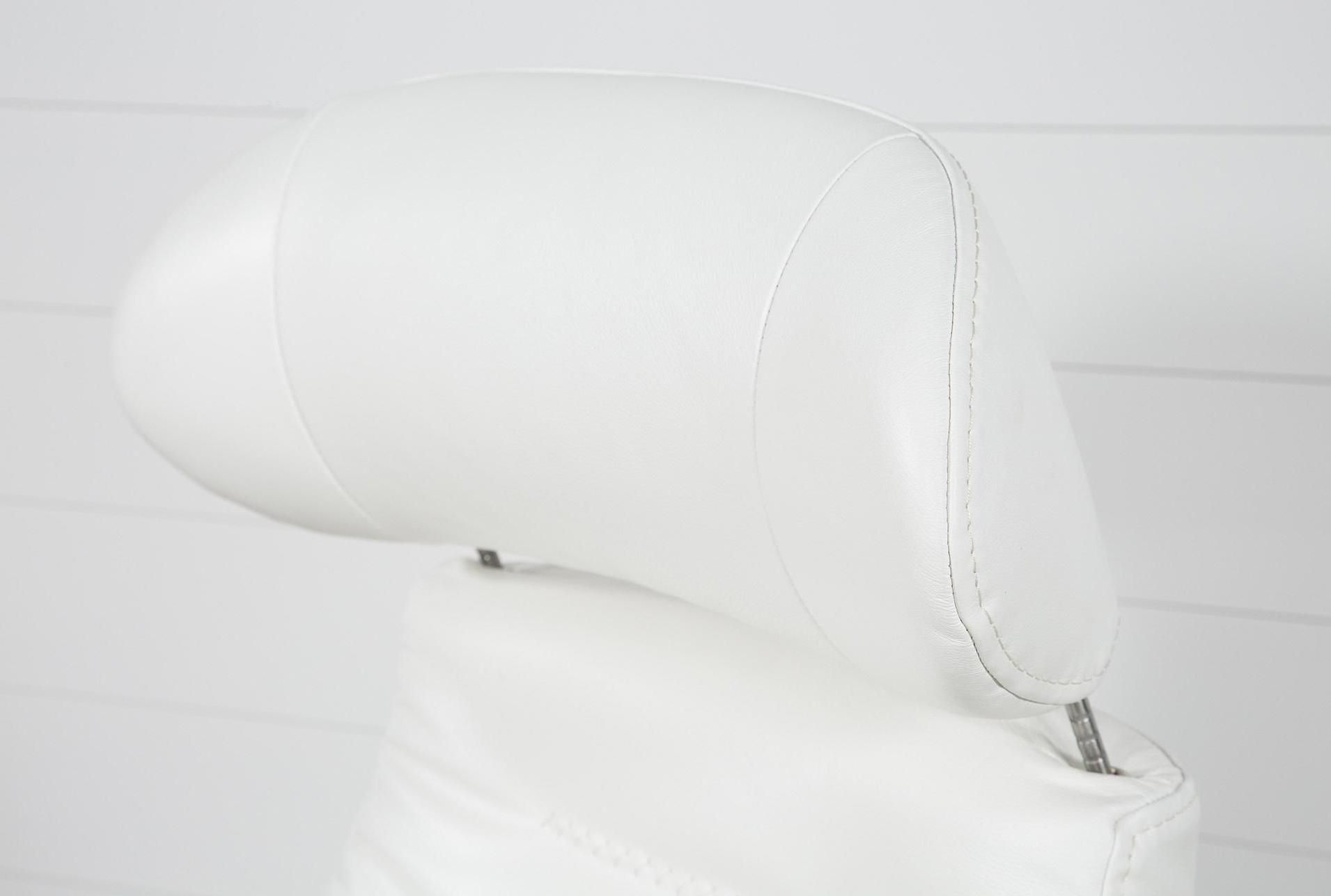 Famous Amala White Leather Reclining Swivel Chair #whiteleatherchair With Regard To Amala White Leather Reclining Swivel Chairs (View 4 of 20)