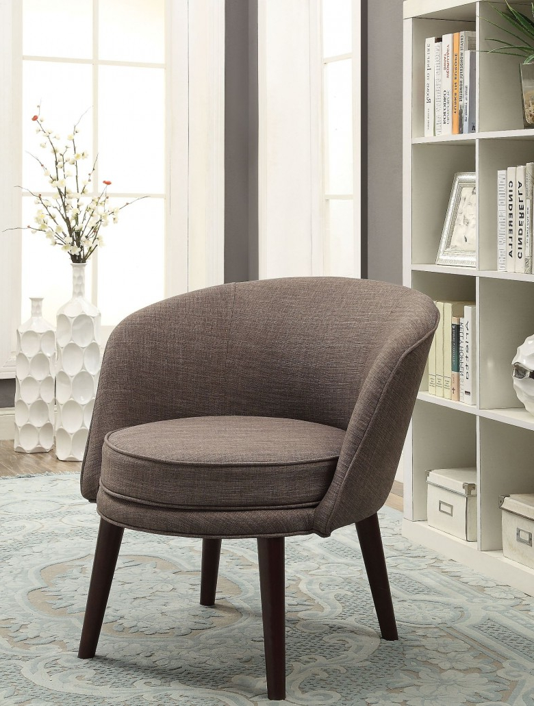 Famous Amari Swivel Accent Chairs For Acme Amari Gray Stone Linen Accent Chair – Amari Collection: (View 3 of 20)
