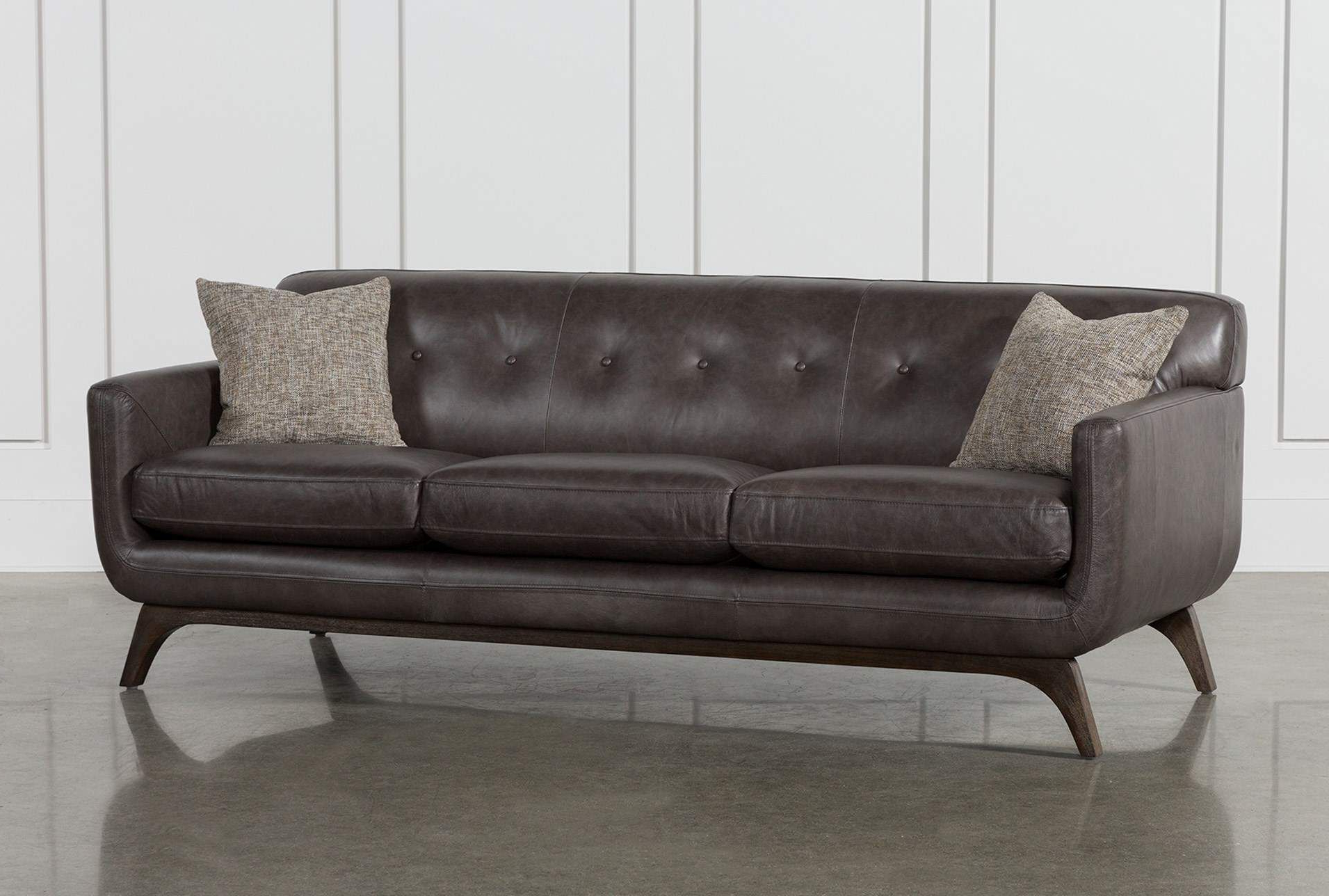 Famous Cosette Leather Sofa In (View 16 of 20)