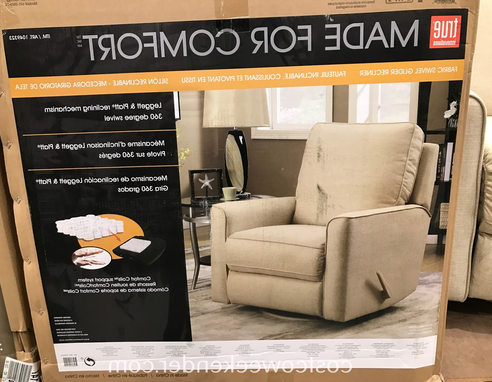 Famous Decker Ii Fabric Swivel Rocker Recliners Inside True Innovations Fabric Swivel Glider Recliner Chair (Gallery 12 of 20)