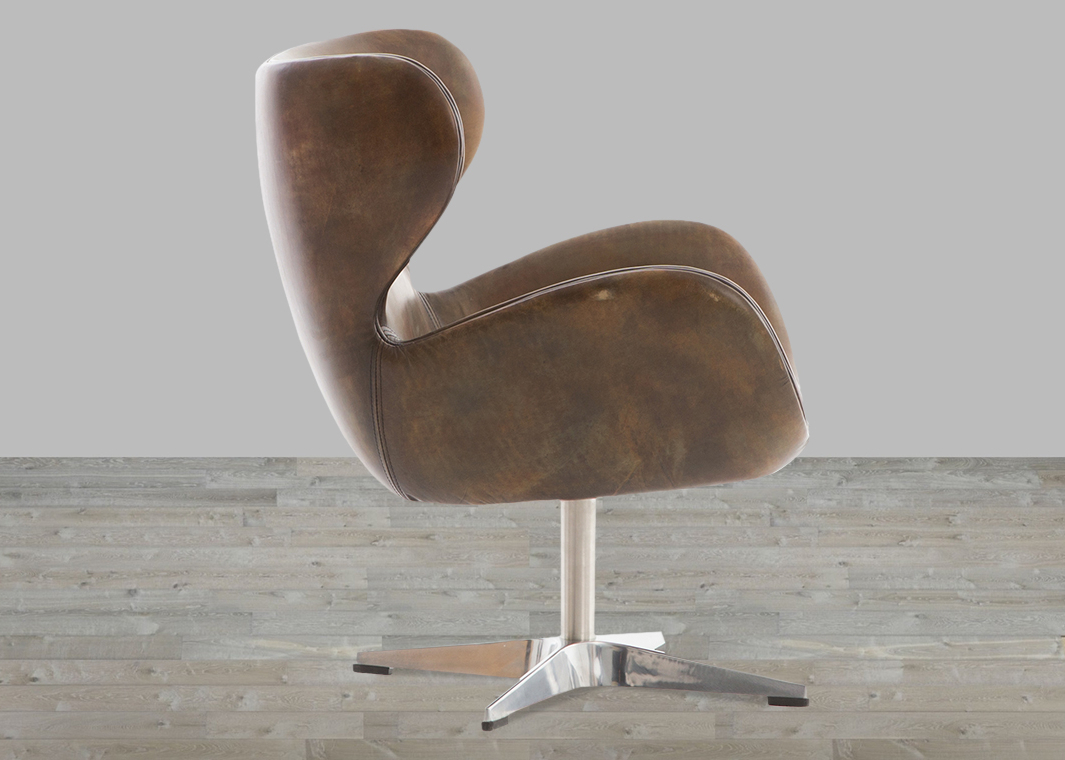 Famous Espresso Leather Swivel Chairs With Regard To Classic England Espresso Toned Leather Swivel Chair (View 8 of 20)